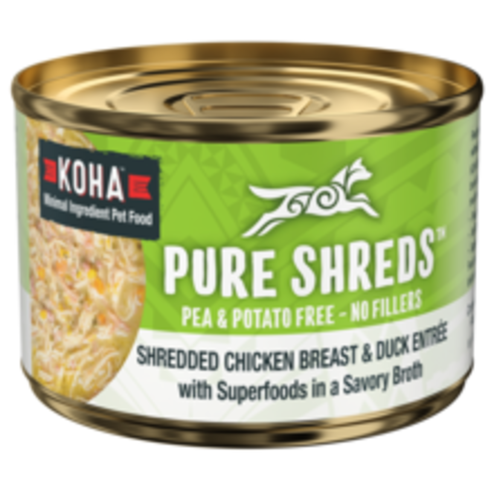 Koha Koha Dog Pure Shreds Chicken & Duck 5.5 OZ