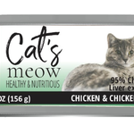 Daves Pet Food Dave's Cat's Meow 95% Chicken & Chicken Liver 5.5 OZ