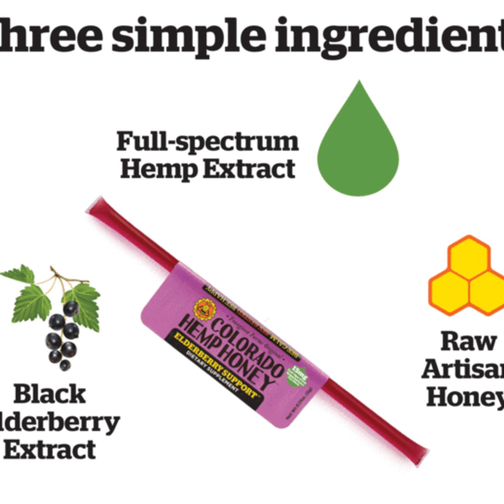 Colorado Hemp Honey Colorado Hemp Honey Elderberry Support Single Stick