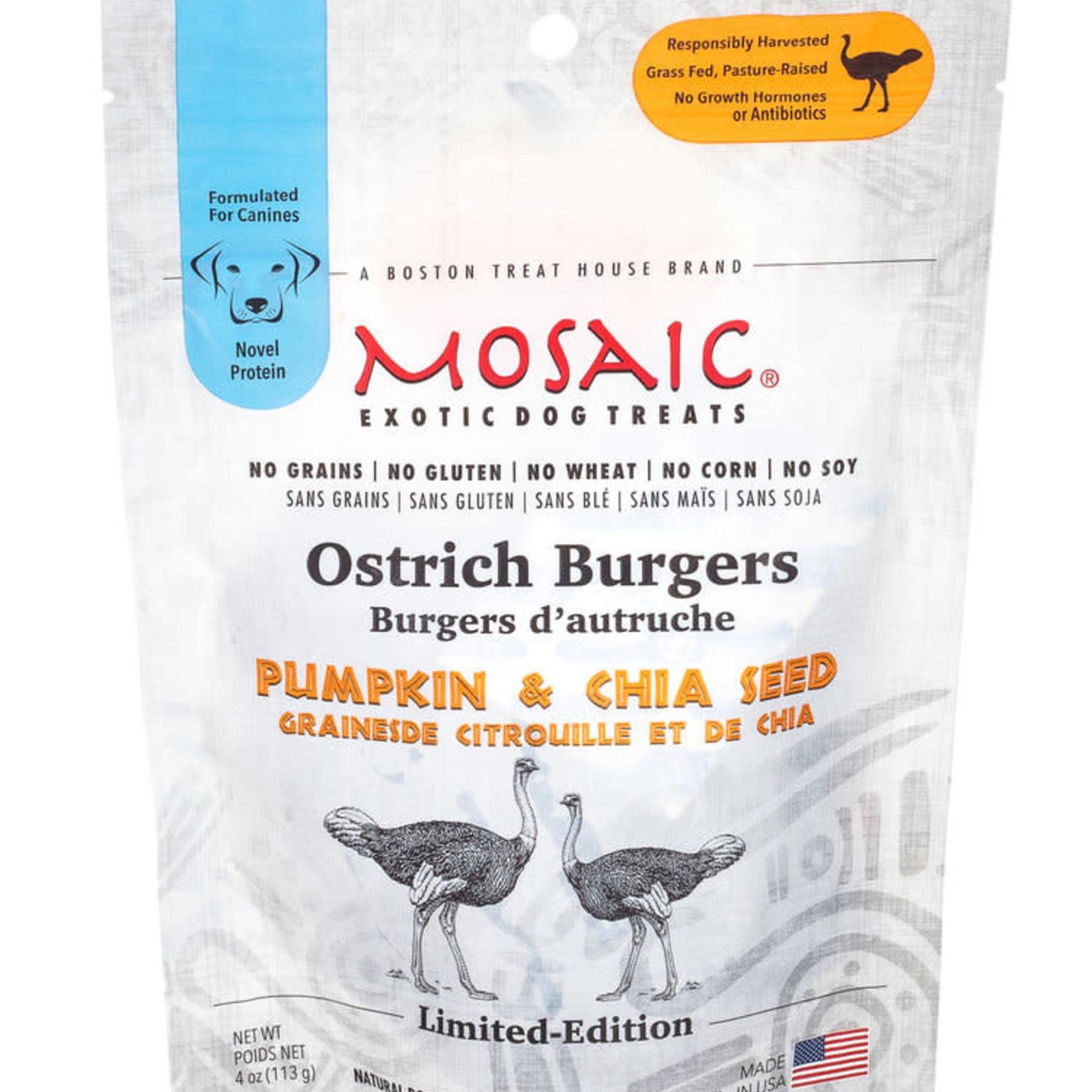 Mosaic Mosaic Dog Ostrich Burgers Pumpkin & Chia 4 OZ