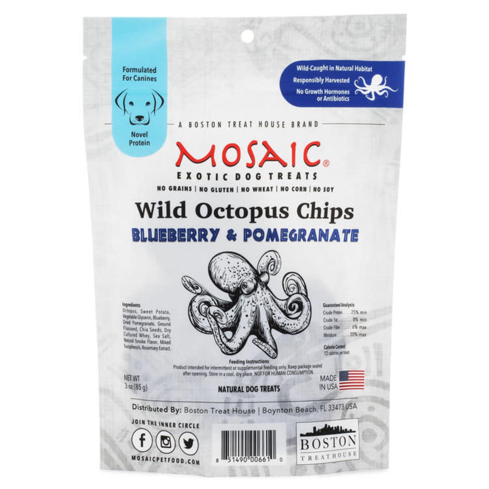 Mosaic Mosaic Dog Octopus Chips Blueberry & Pomegranate 3 OZ