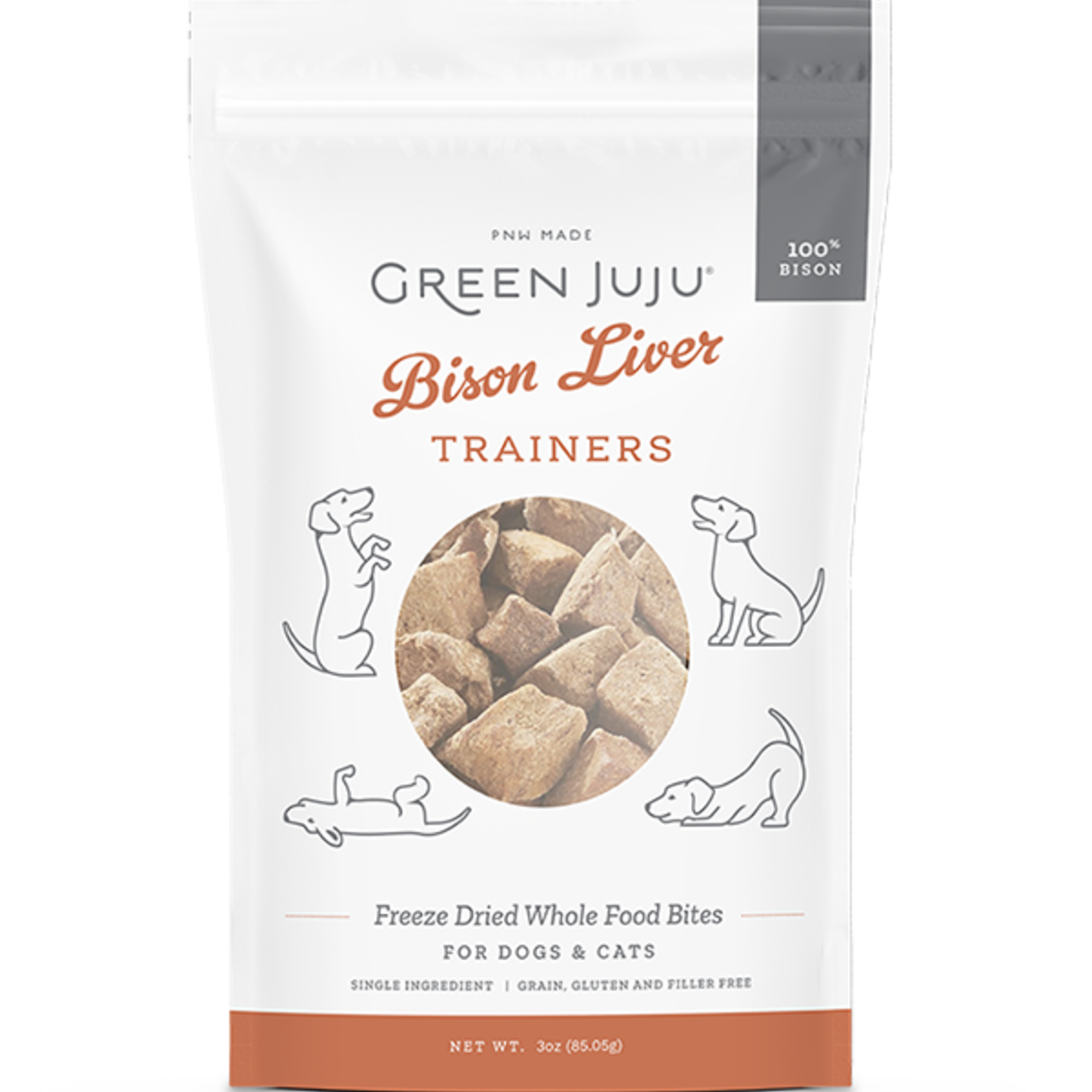 Green Juju Freeze-dried Bison Liver Trainers 3 OZ