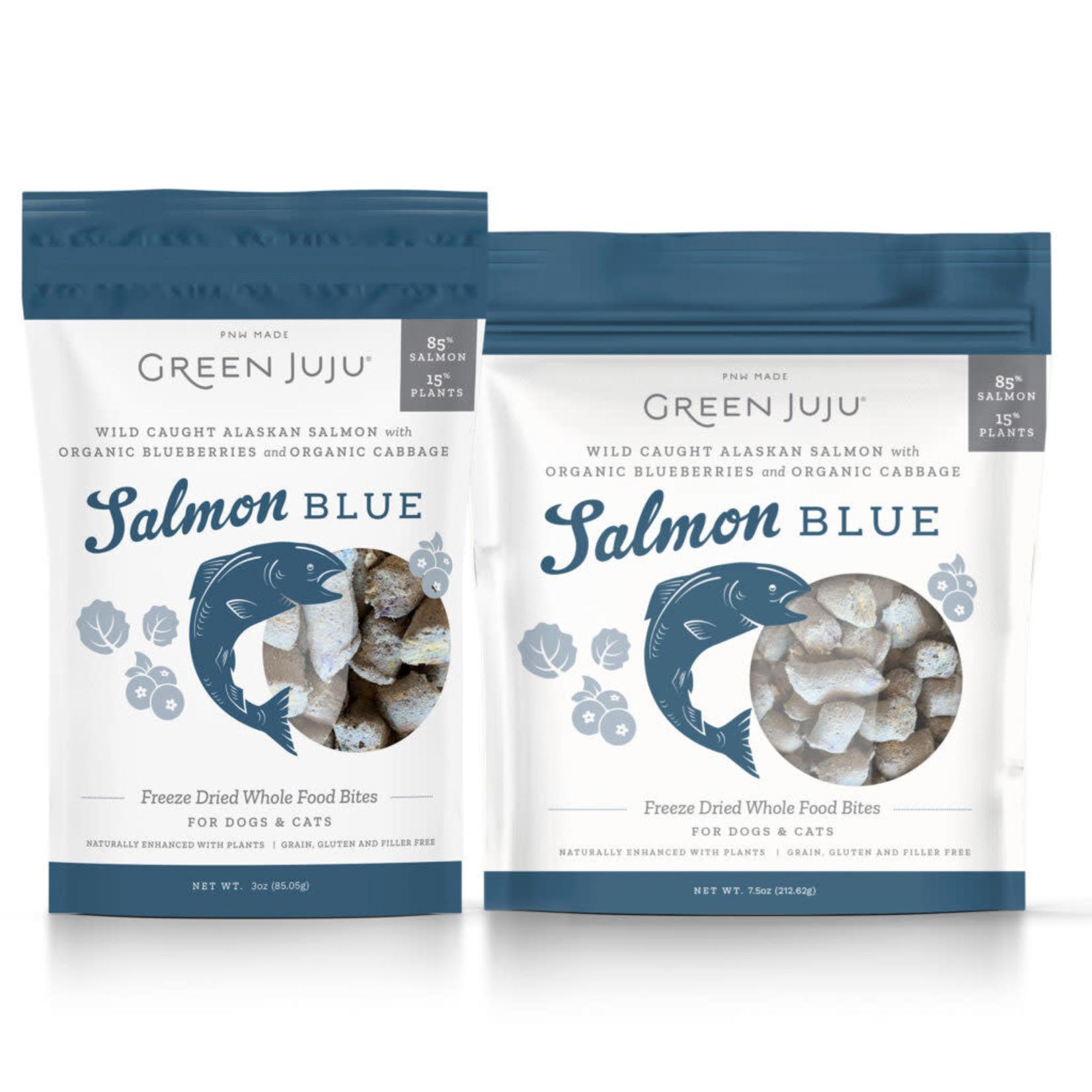 Green Juju Freeze-dried Super Food Bites Salmon Blue 3 OZ