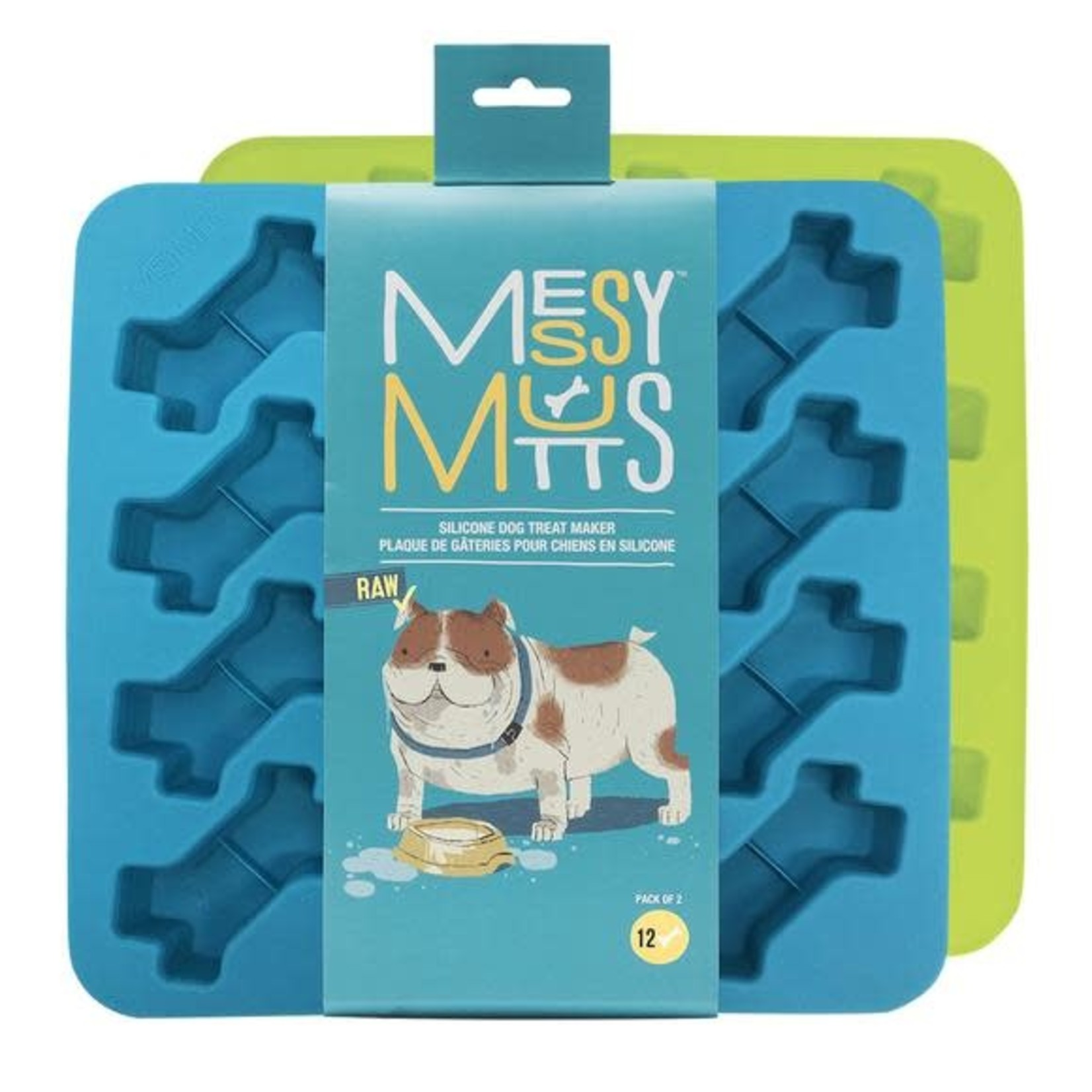 Messy Mutts Messy Mutts Silicone Bone Treat Maker 2 Pack