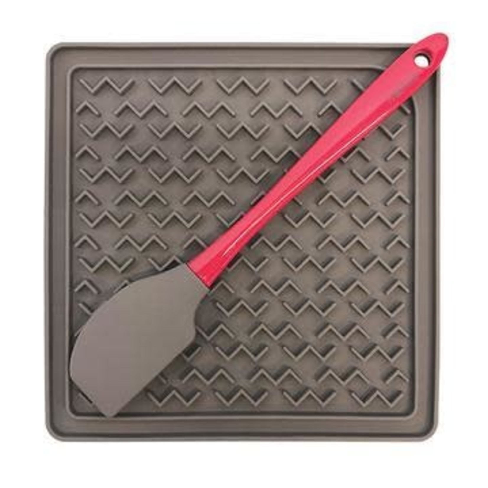 Messy Mutts Messy Mutts Interactive Silicone Feeding Mat with Spatula