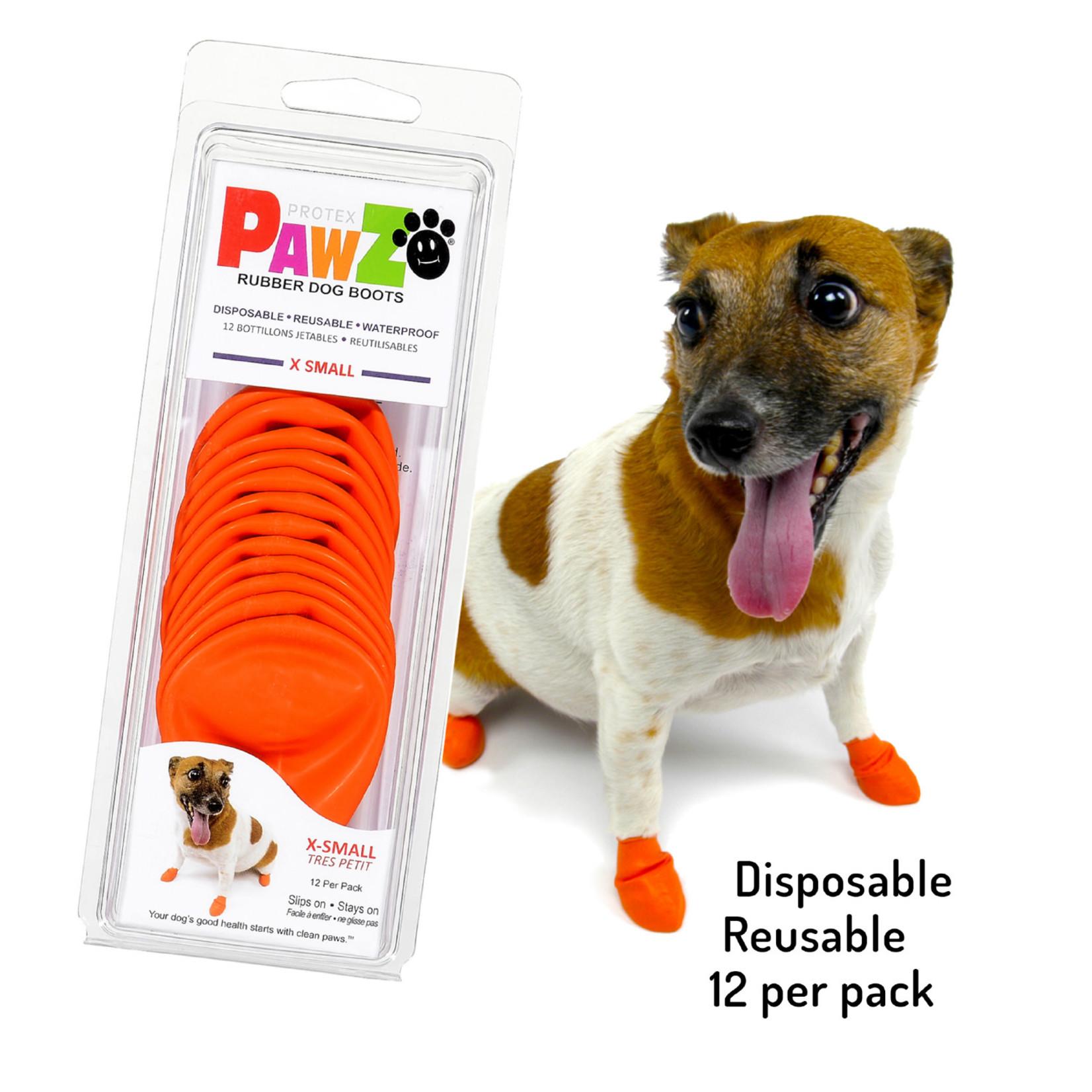 PAWZ Dog Boots Orange X-Small 12 Pack