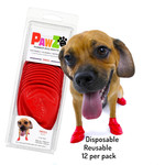 PAWZ Dog Boots Red Small 12 Pack