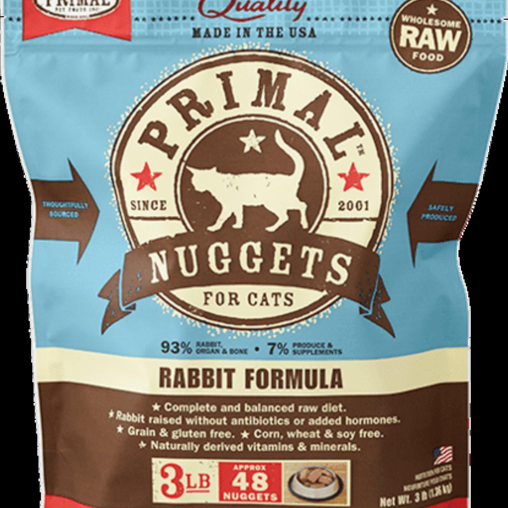 Primal Pet Foods Primal Cat Frozen Rabbit 3#