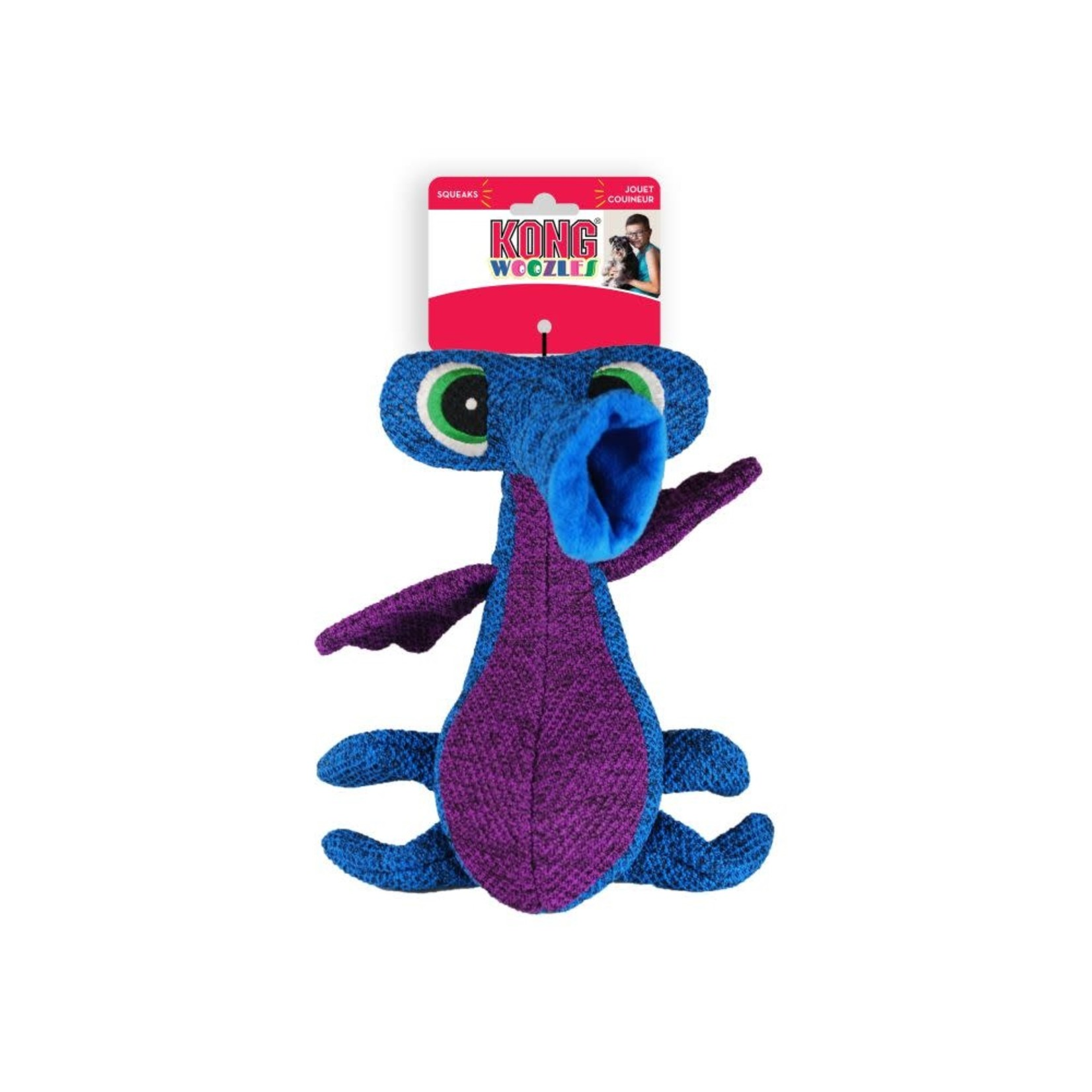 Kong Company Kong Dog Woozles Blue Medium