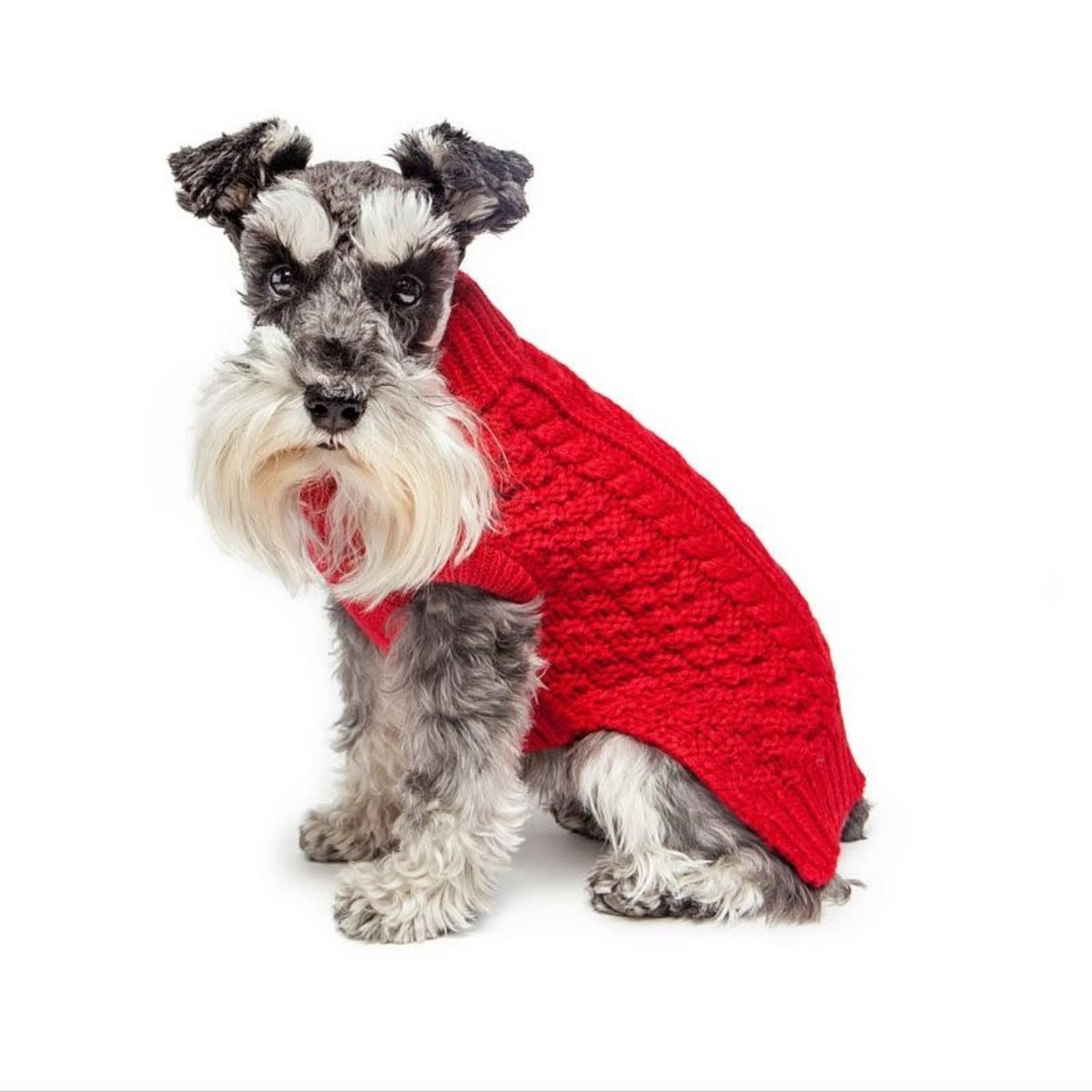 "Fab Dog Fab Dog Chunky Turtleneck Red 18"""