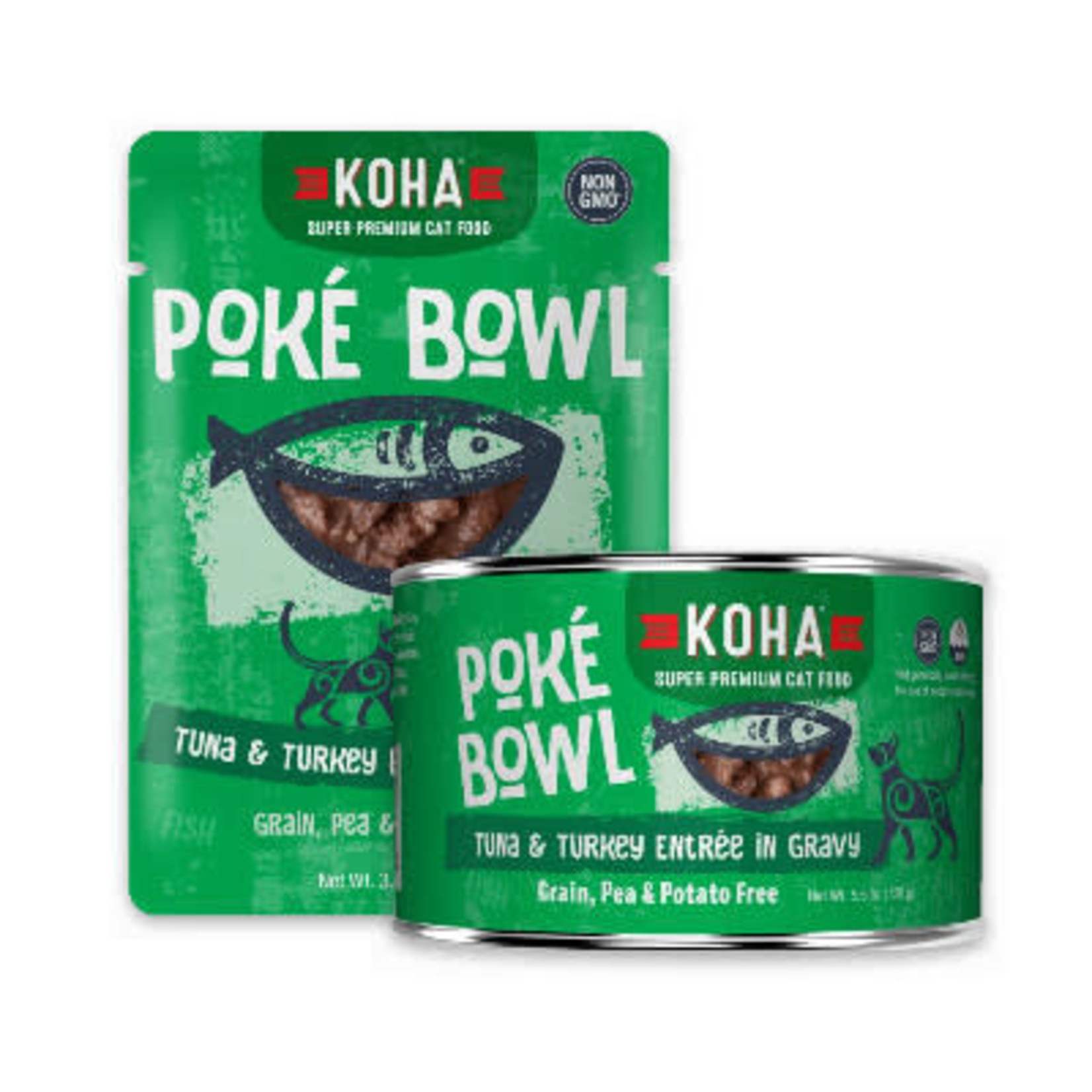 Koha KOHA Cat Poke Bowl Tuna & Turkey 5.5 OZ
