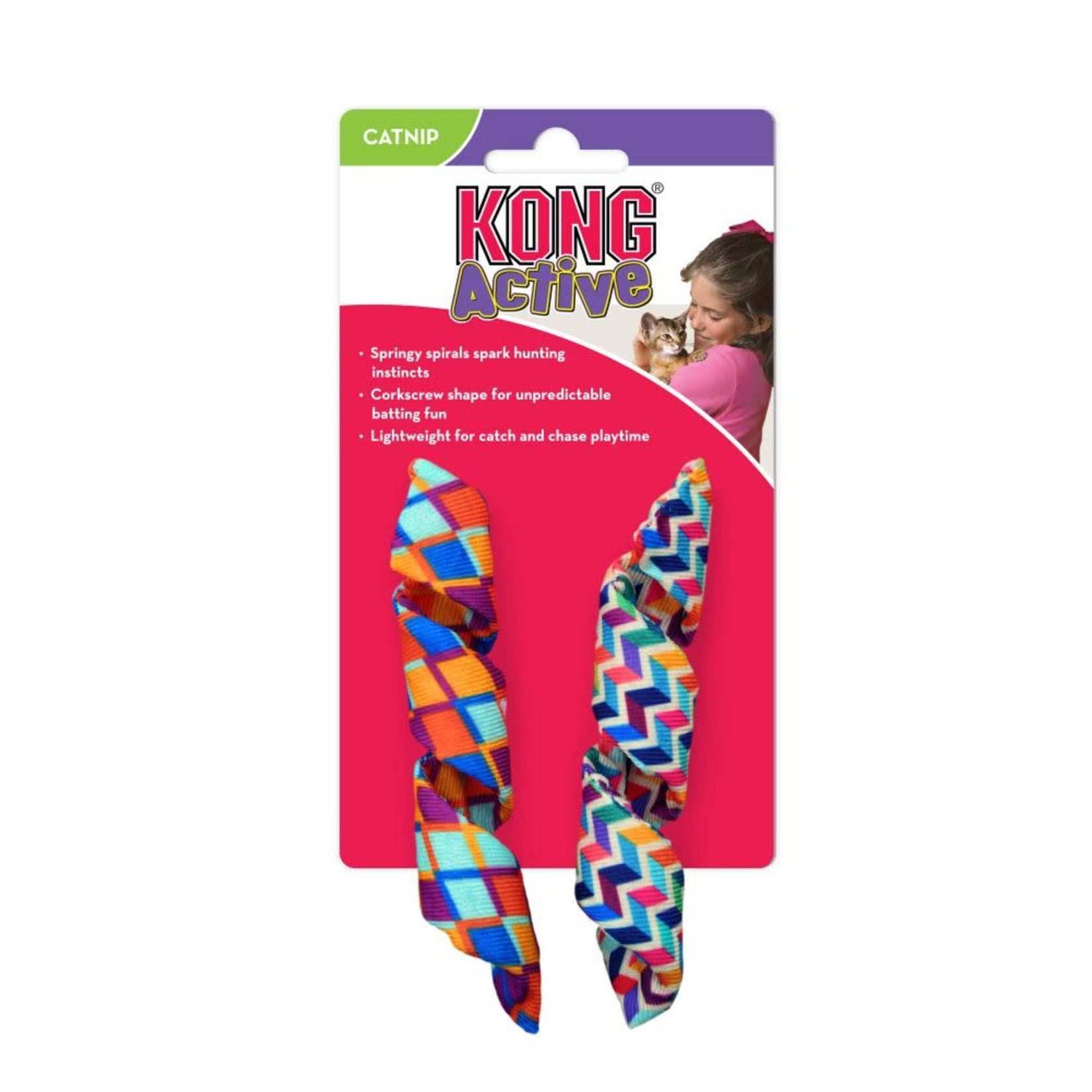 Kong Company Kong Active Cat Curlz 2 Pack