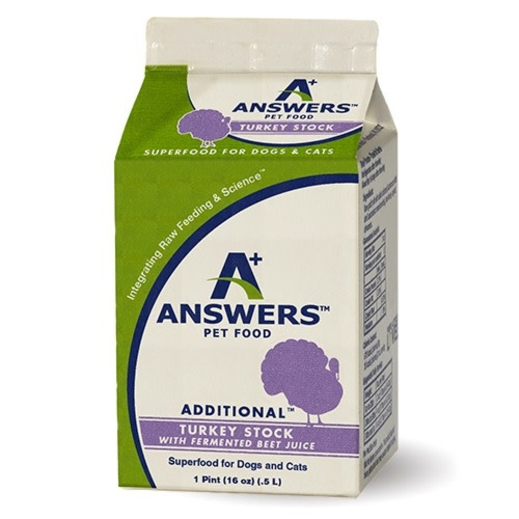 Answers Pet Food Answers Turkey Stock with Fermented Beet Juice 16 OZ