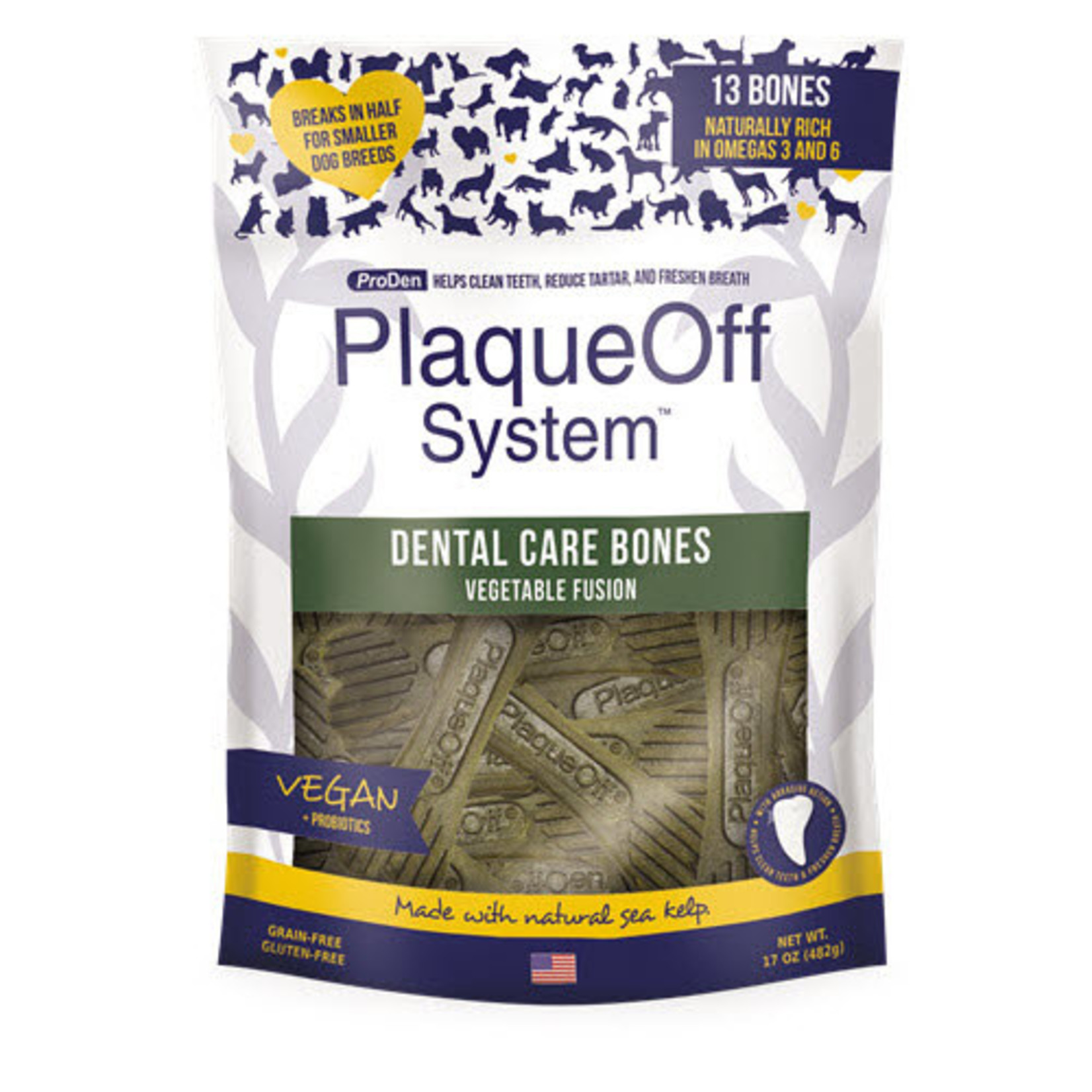 ProDen Plaqueoff Proden Dog Plaqueoff Dental Bone Vegetable 17 OZ