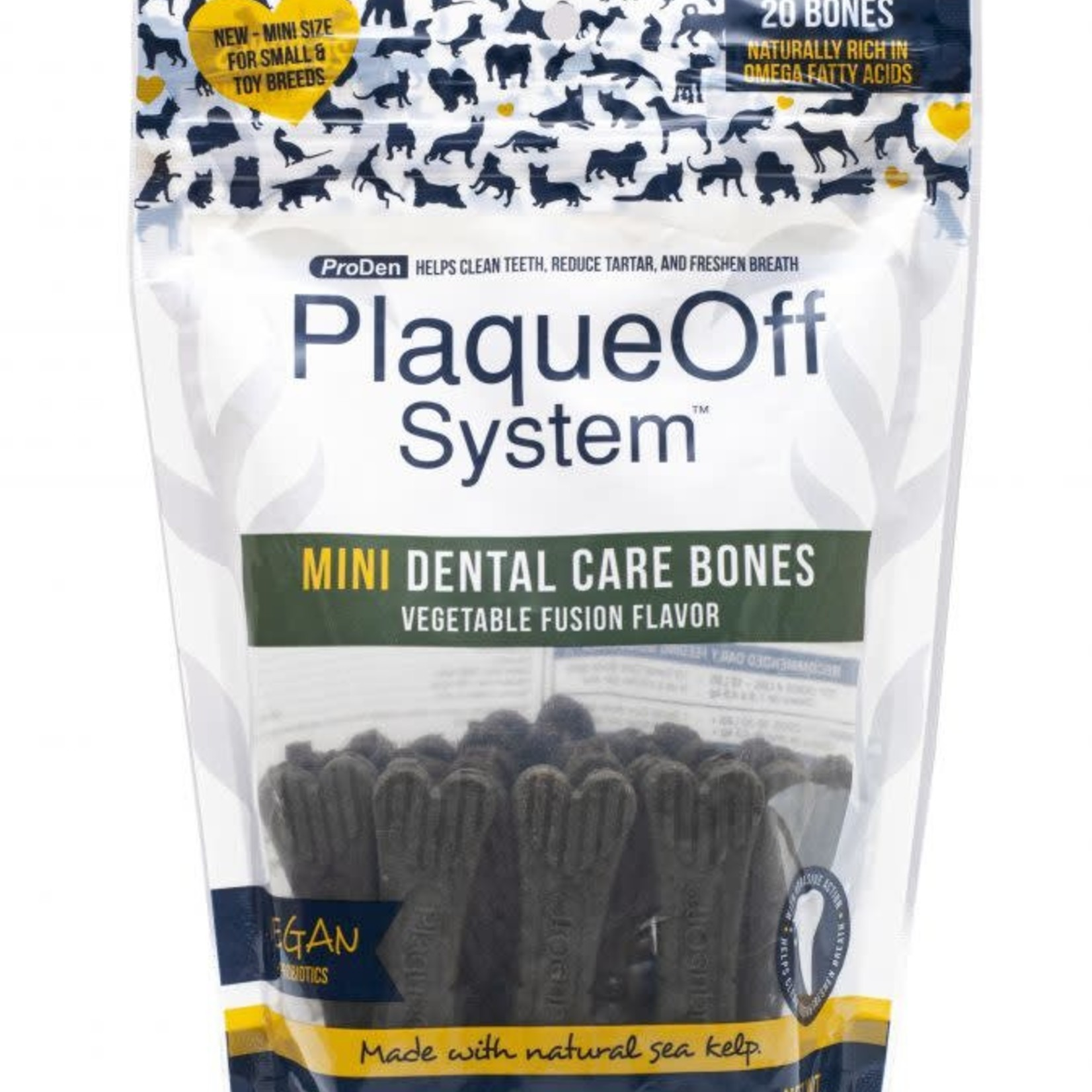 ProDen Plaqueoff Proden Dog Mini Dental Bone Veggie Fusion 12 OZ