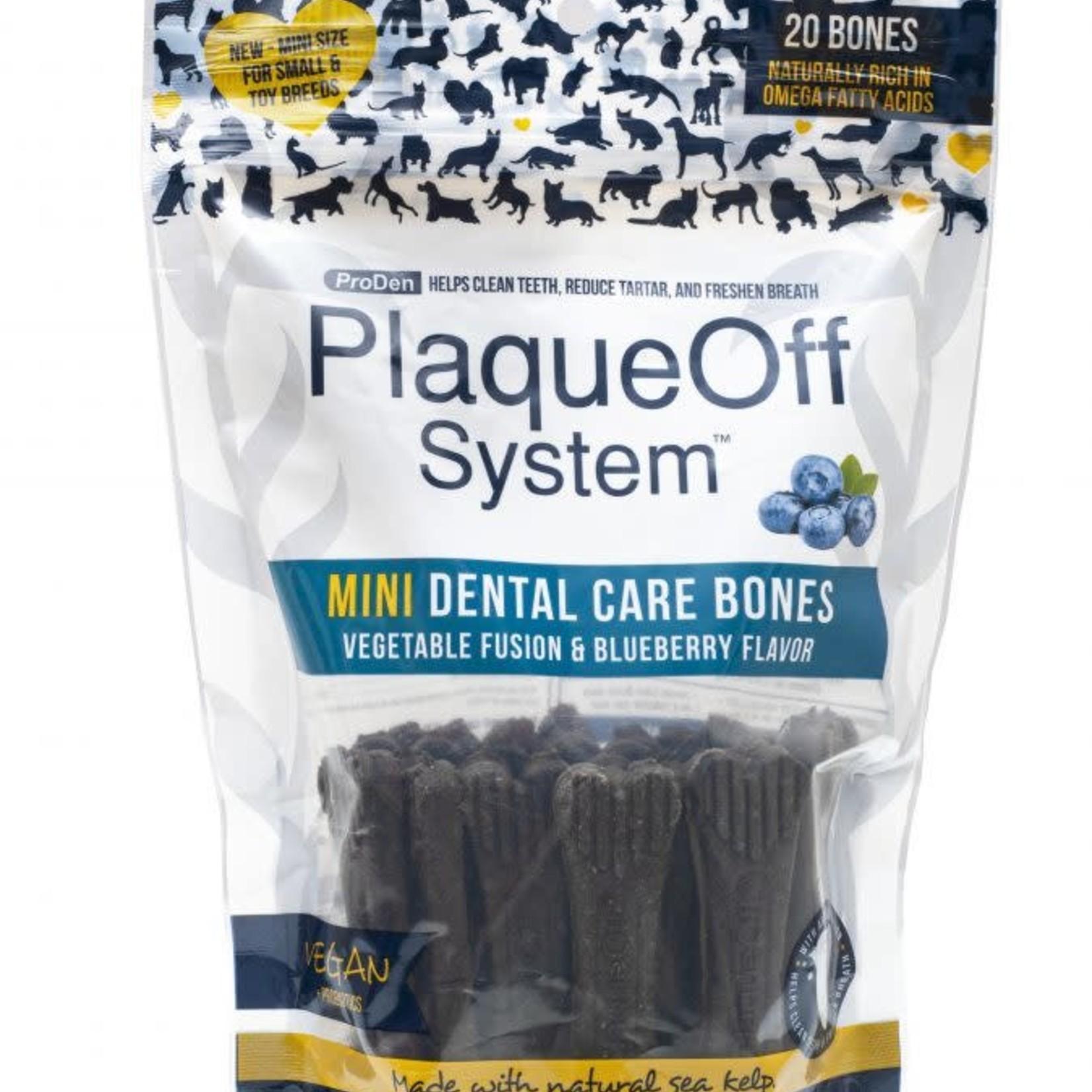 ProDen Plaqueoff Proden Dog Mini Dental Bone Blueberry Fusion 12 OZ