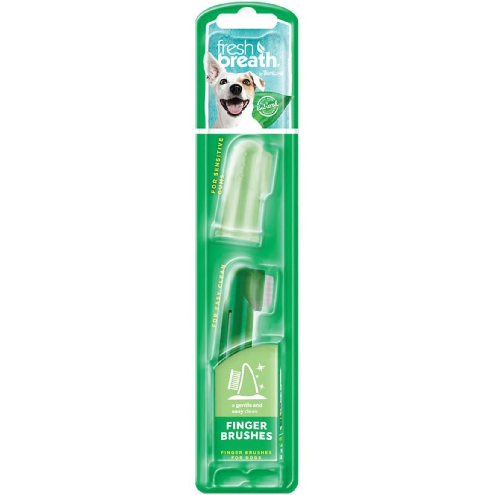 Tropiclean Fresh Breath Finger Brush 2 Pack