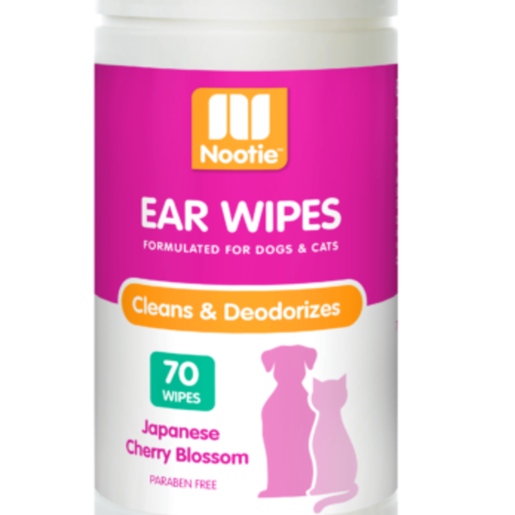 Nootie Ear Wipes Cherry Blossom 70 Count
