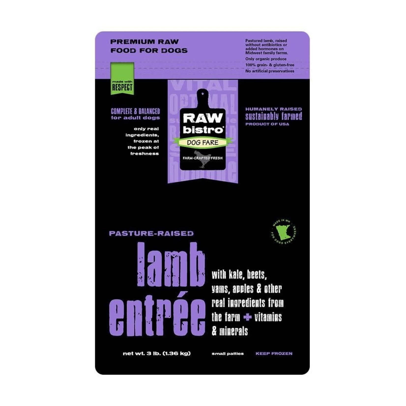 Raw Bistro Raw Bistro Frozen Raw Lamb 3#