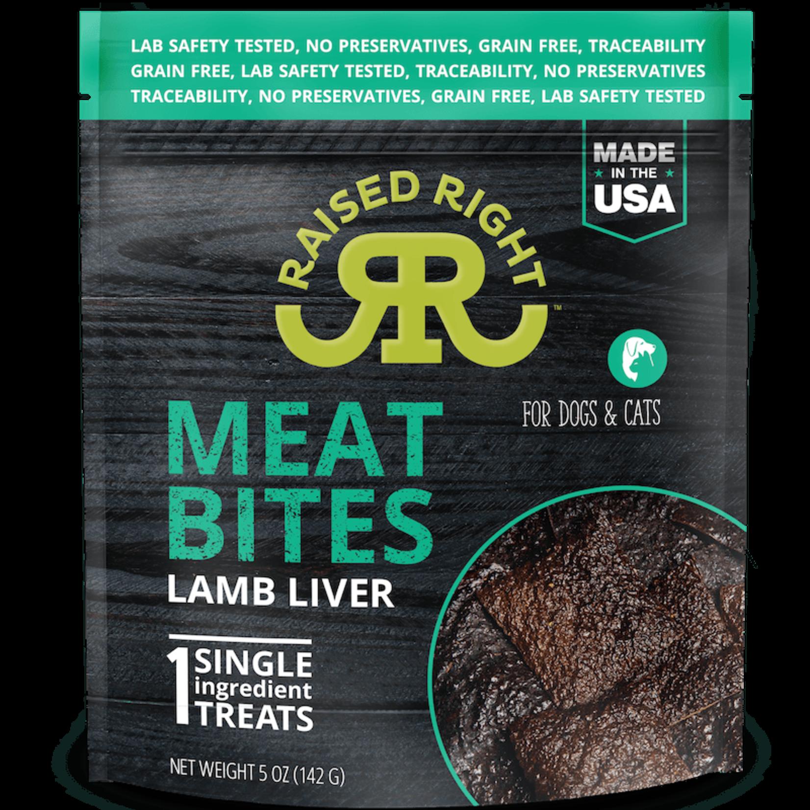 Raised Right Raised Right Meat Bites Lamb 5 OZ