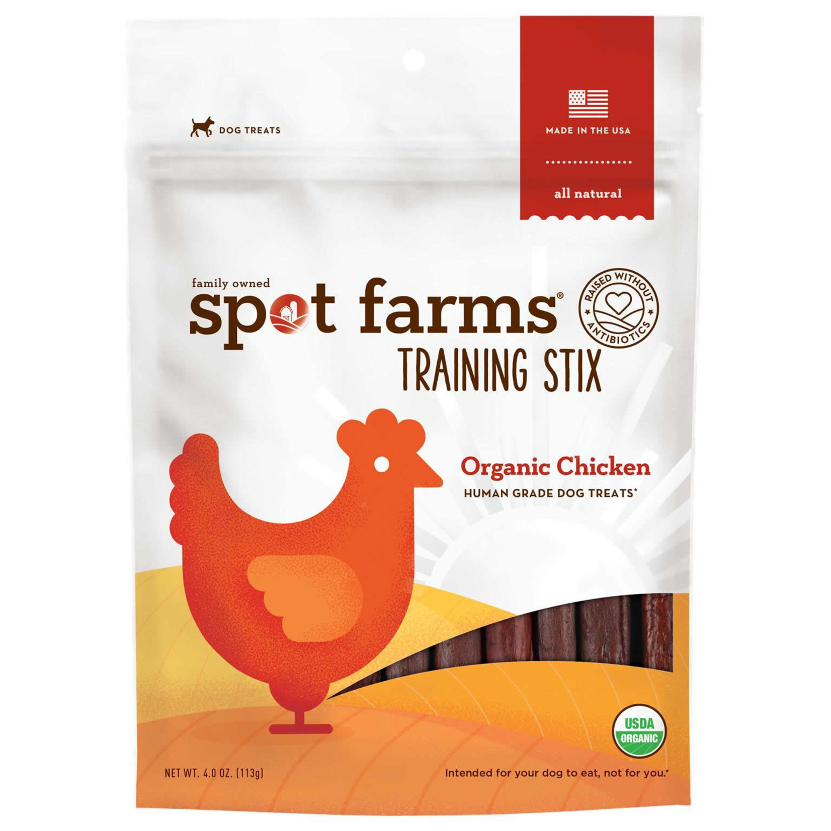 Spot Farms Spot Farms Dog Training Stix Organic Chicken 4 OZ