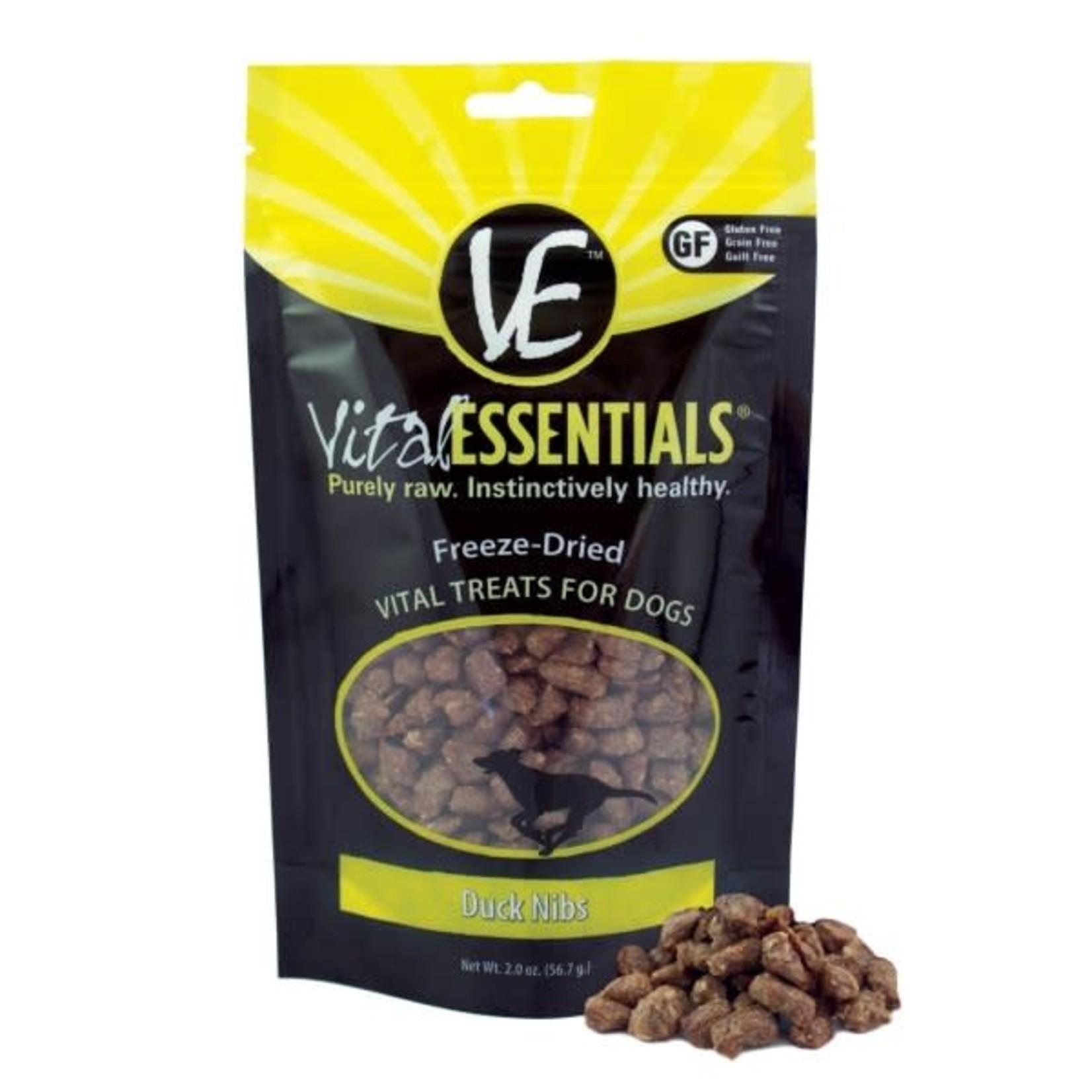 Vital Essentials Vital Essentials Dog Freeze-Dried Duck Nibs 2 OZ