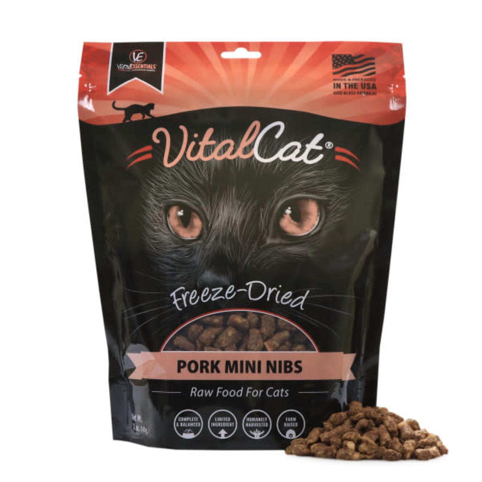 Vital Essentials Vital Essentials Cat Freeze-Dried Mini Nibs Pork 12 OZ