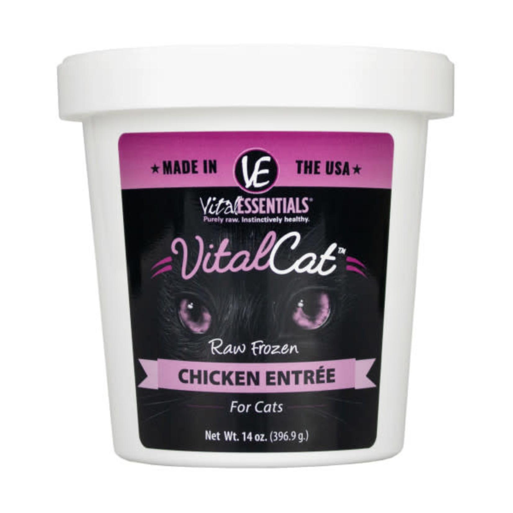 Vital Essentials Vital Essentials Cat Frozen Raw Chicken 14 OZ Tub