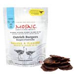 Mosaic Mosaic Dog Ostrich Burgers Banana & Flaxseed 4 OZ