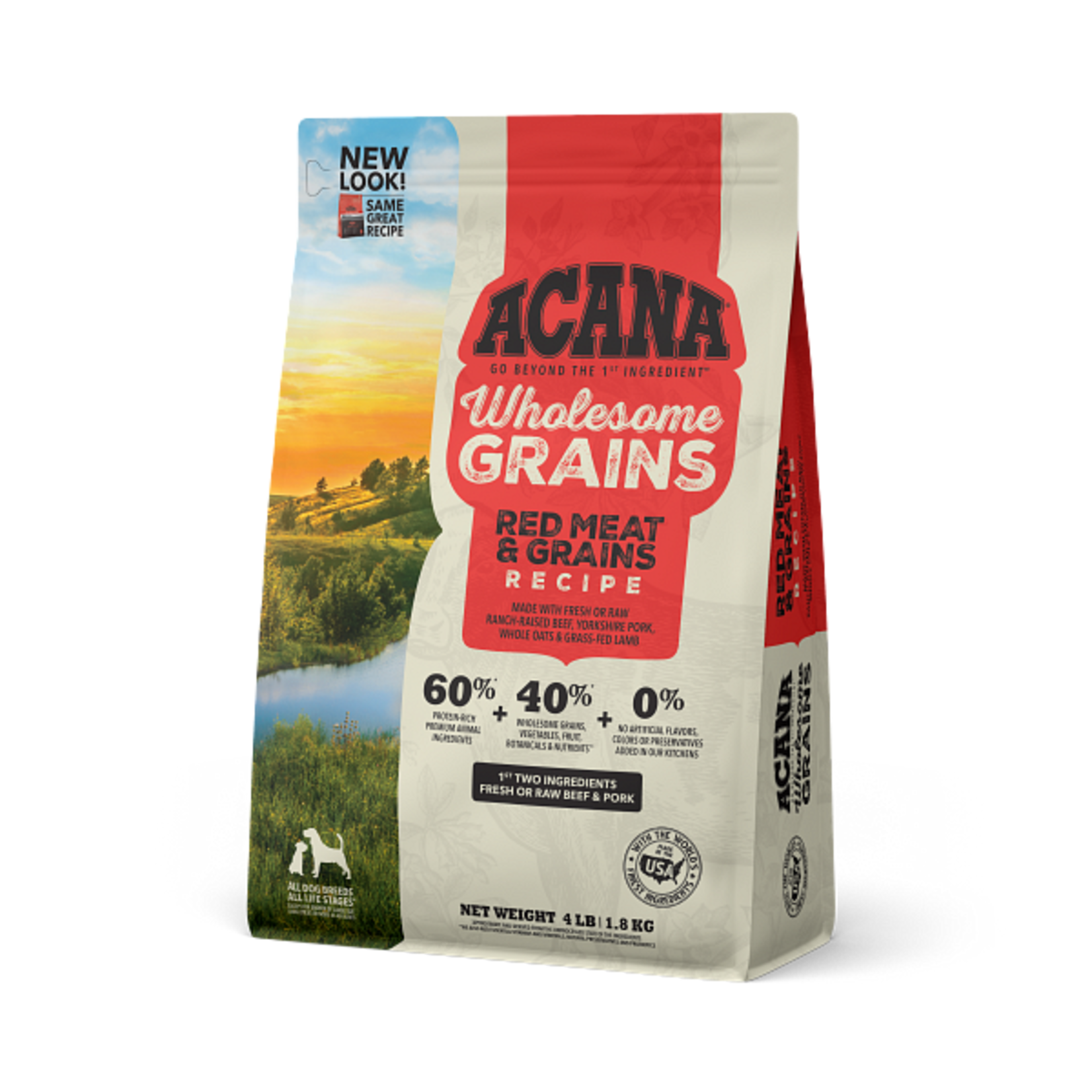Champion Pet Foods Acana Dog Wholesome Grains Red Meats 4#