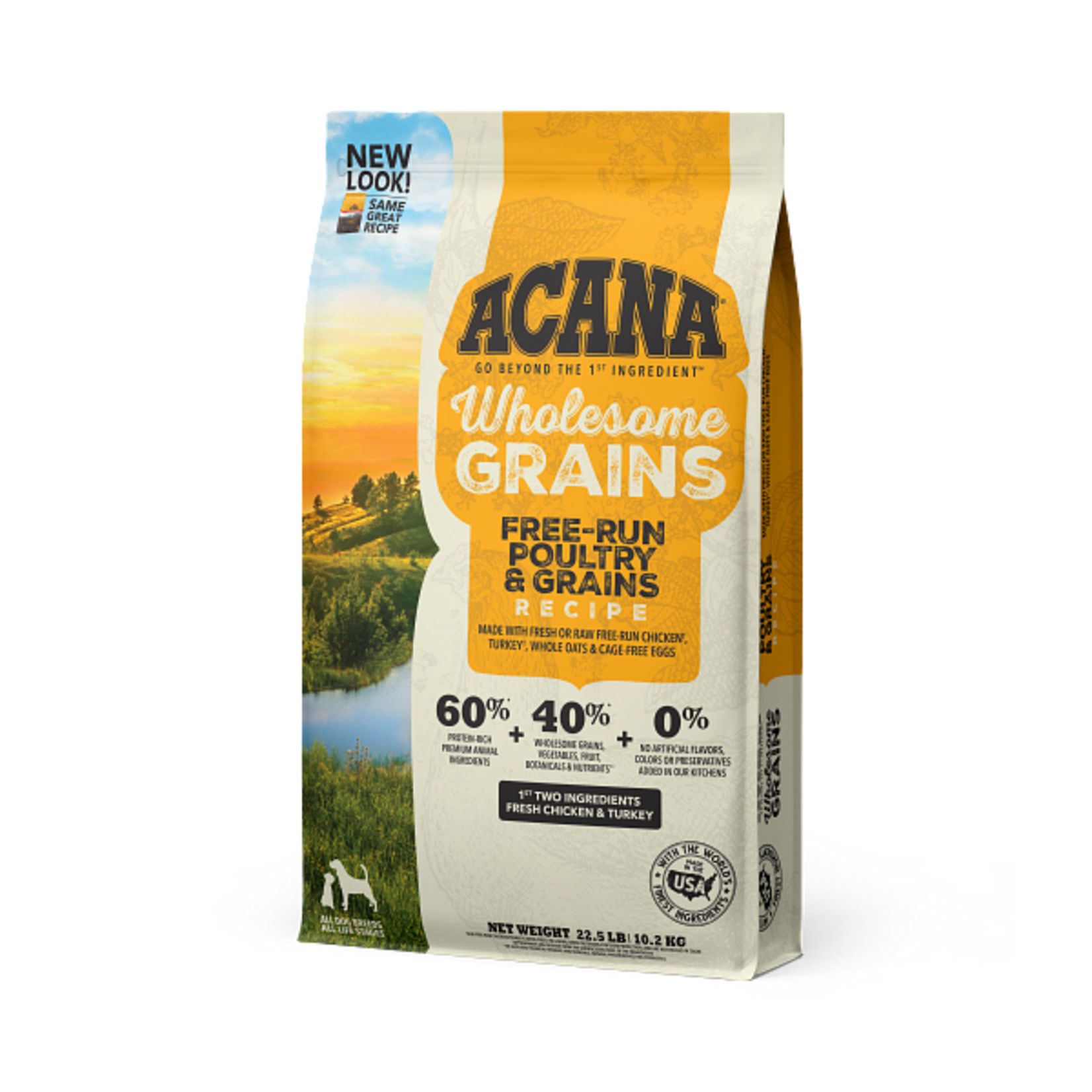 Champion Pet Foods Acana Dog Wholesome Grains Free Run Poultry 22.5#