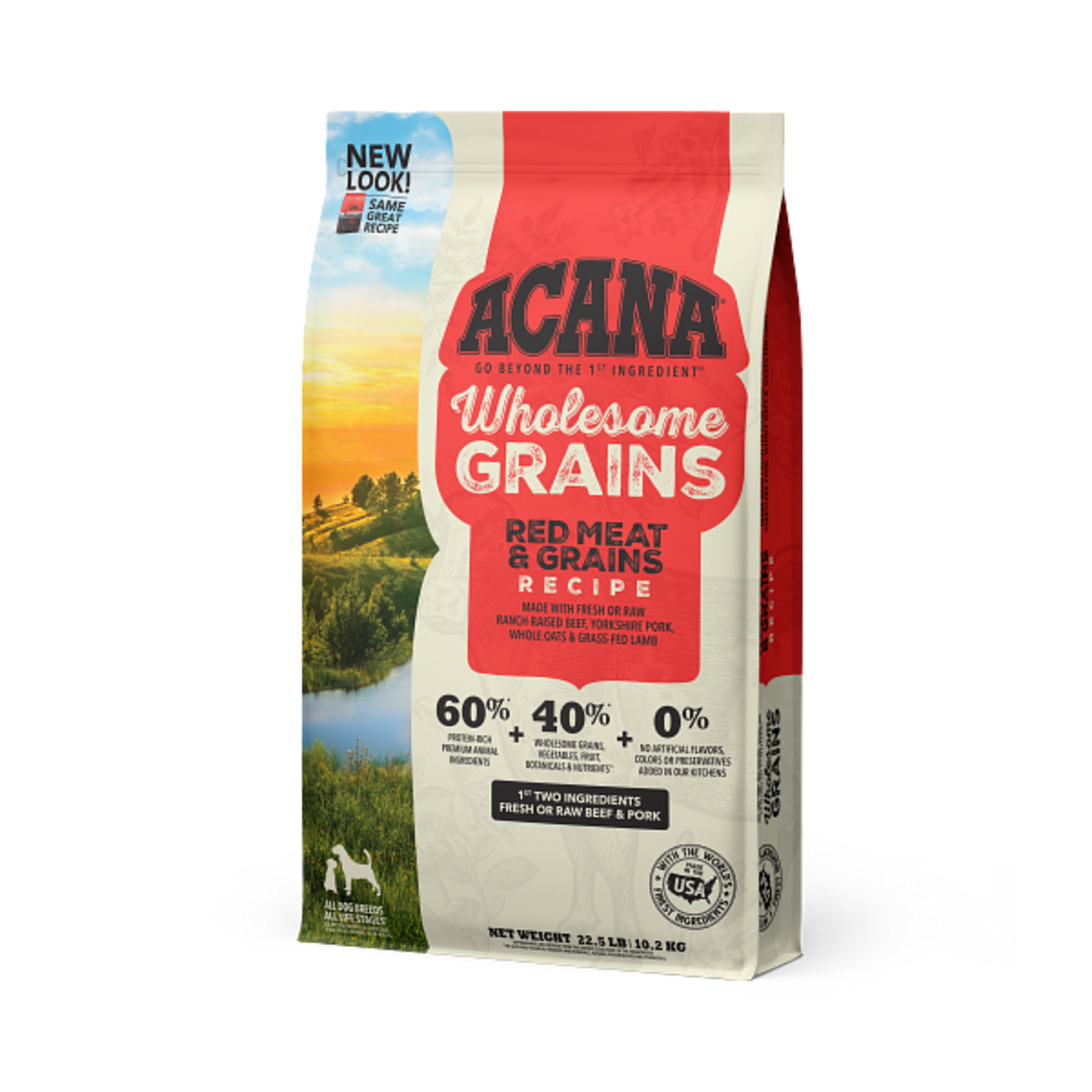 Champion Pet Foods Acana Dog Wholesome Grains Red Meats 22.5#