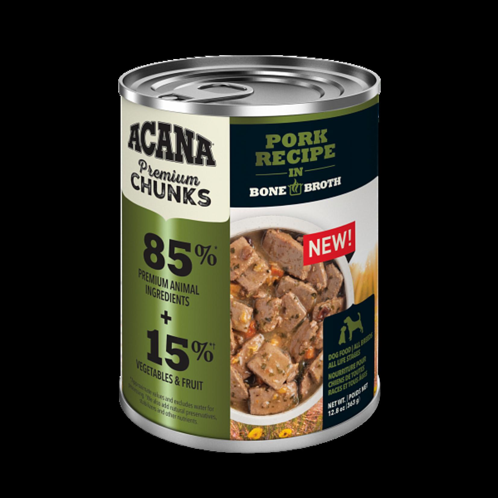 Champion Pet Foods Acana Dog Grain Free Chunks Pork 12.8 OZ