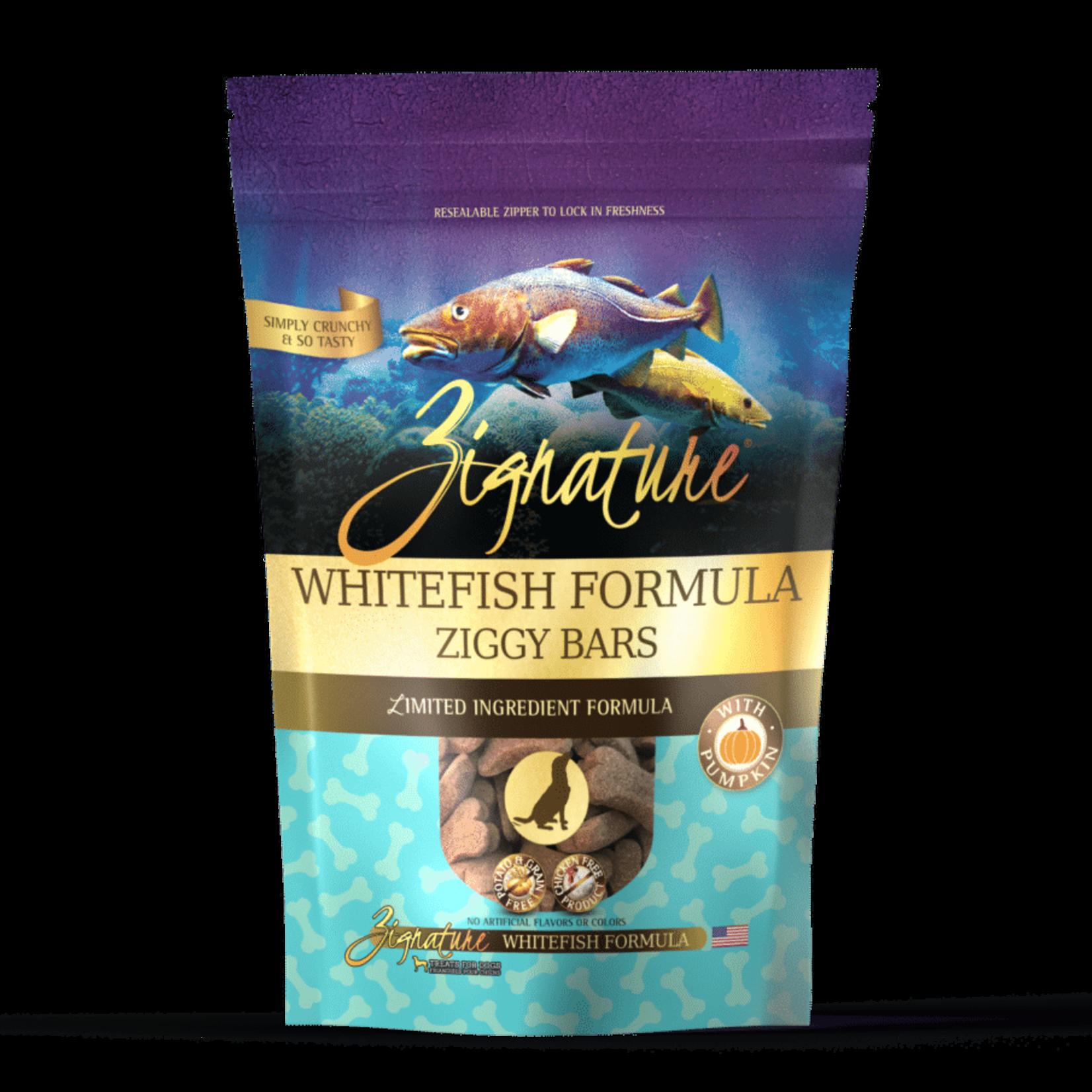 Zignature Zignature Dog Grain Free Ziggy Bar Biscuits Whitefish 12 OZ