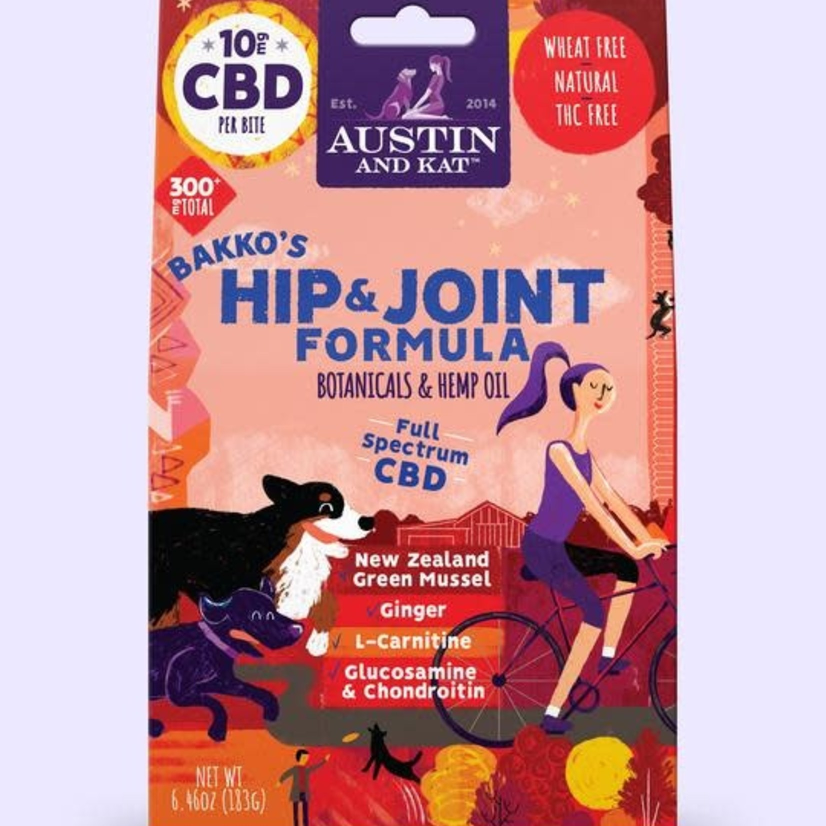 Austin and Kat Austin & Kat Hemp Bites Hip & Joint 10 MG, 6.6 OZ