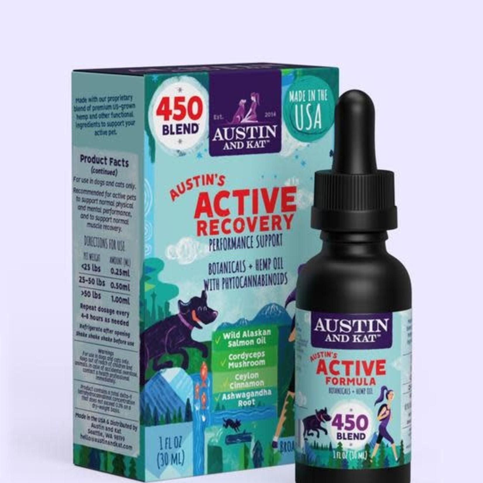 Austin and Kat Austin & Kat Hemp Oil Active Recovery 450 MG