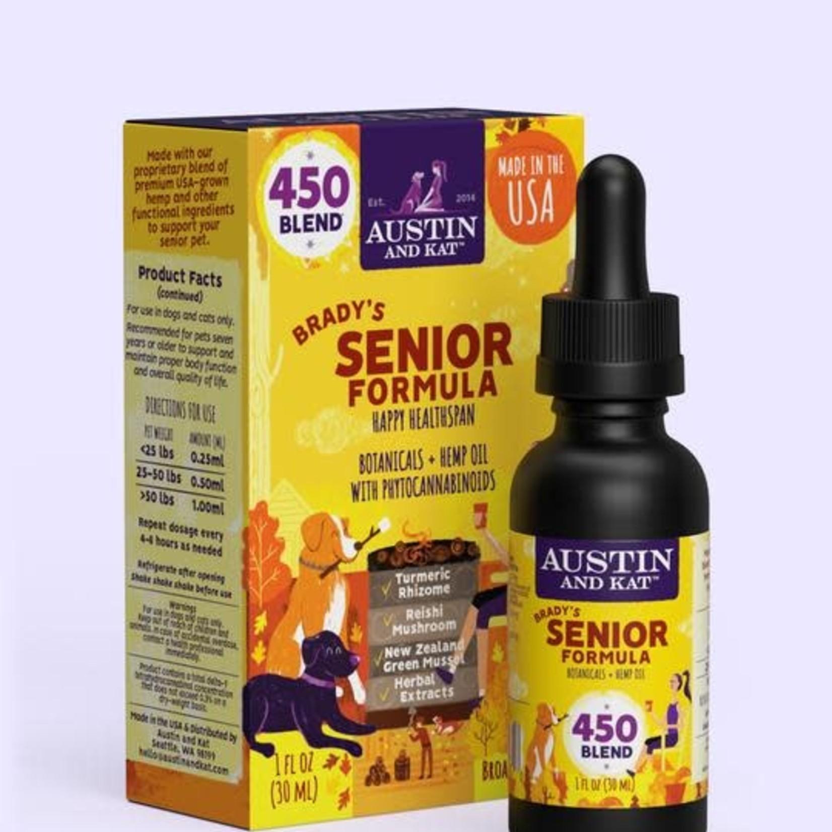 Austin and Kat Austin & Kat Hemp Oil Senior Blend 450 MG