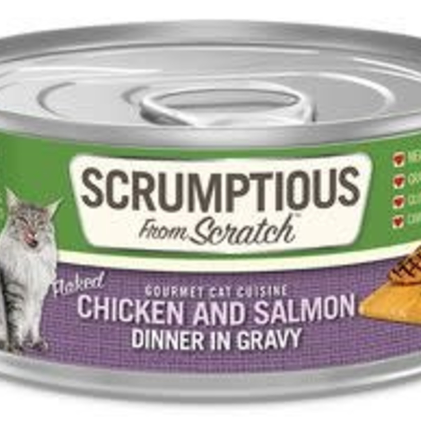 Scrumptious Scrumptious Cat Chicken & Salmon Gravy 2.8 OZ
