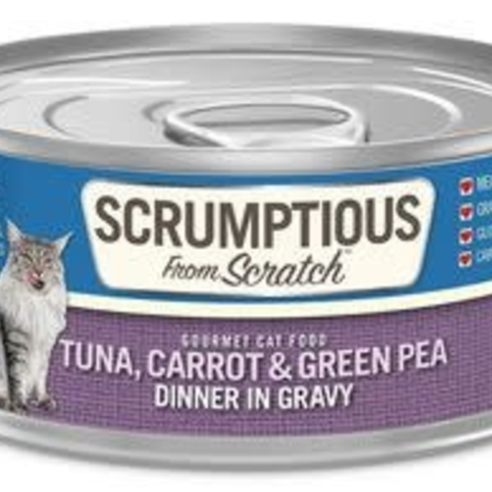 Scrumptious Scrumptious Cat Tuna, Carrots & Peas Gravy 2.8 OZ
