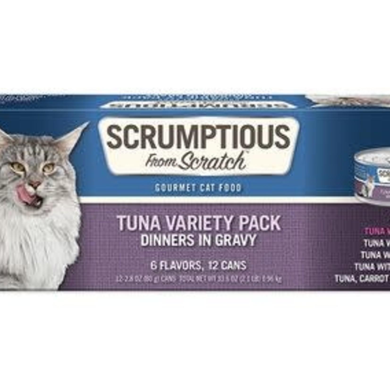 Scrumptious Scrumptious Cat Tuna Variety 12 Pack (2.8 OZ Cans)