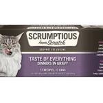 Scrumptious Scrumptious Cat Taste Everything Variety 12 Pack (2.8 OZ Cans)