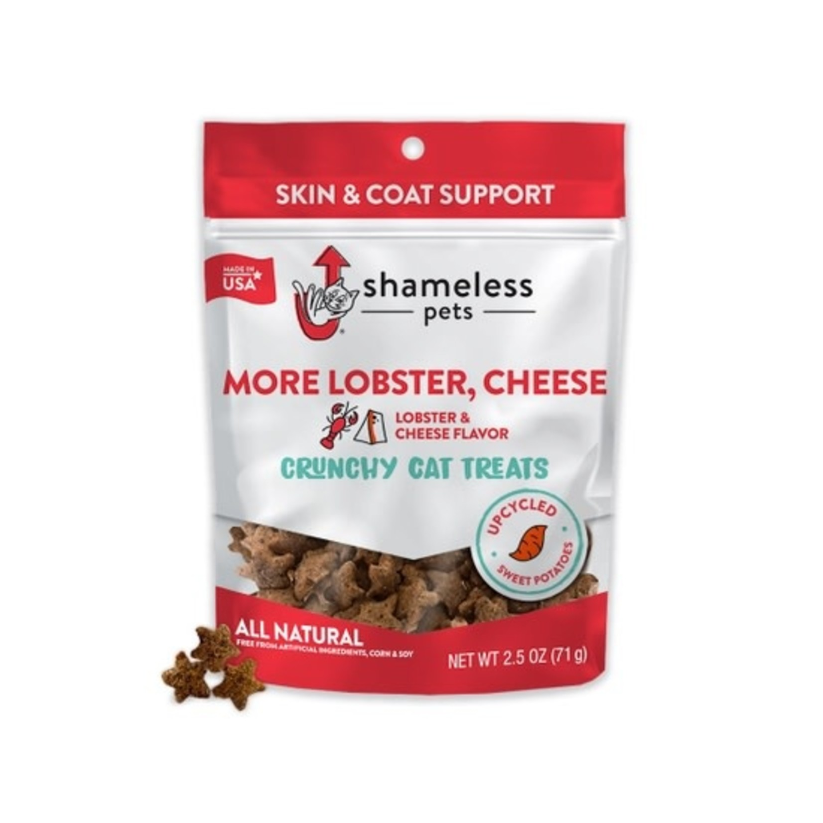 Shameless Pets Shameless Pets Cat More Lobster, Cheese Crunchy Cat Treats 2.5 OZ