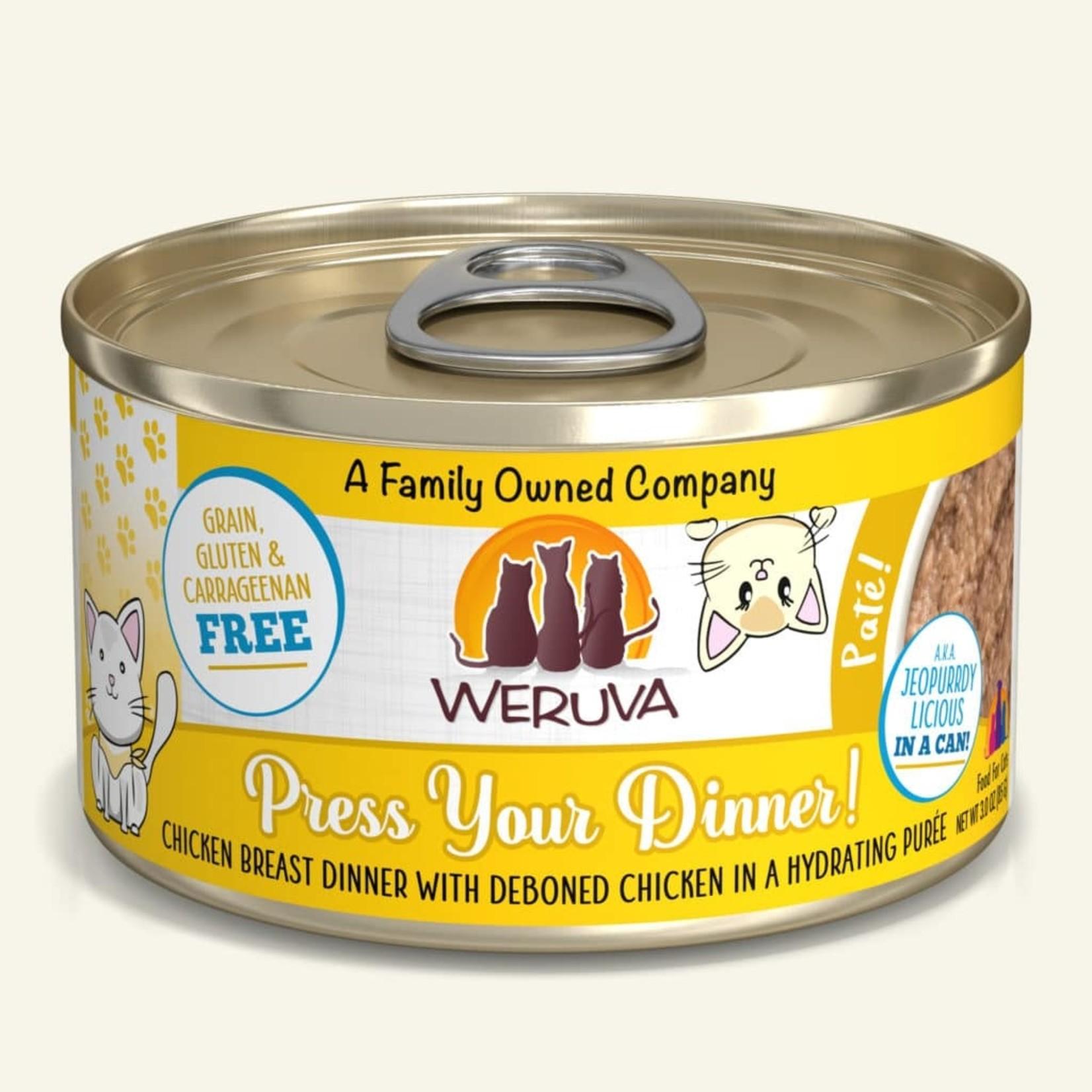 Weruva Weruva Cat Press Your Dinner Deboned Chicken Breast Pate 3 OZ