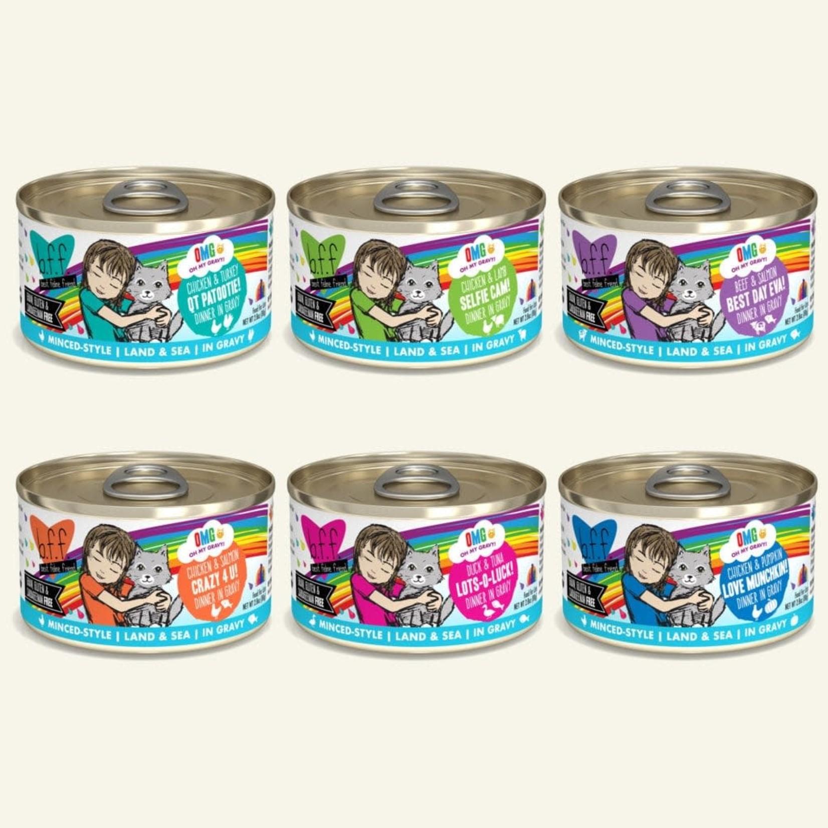 Weruva BFF OMG Rainbow Road Variety Pack 12 - 2.8 OZ Cans
