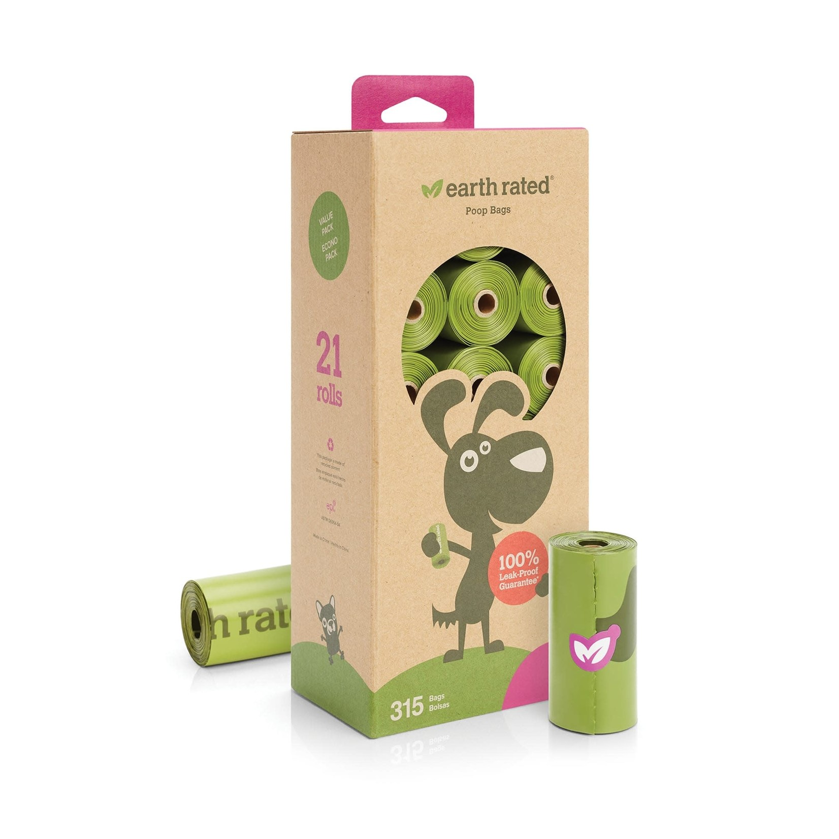 Earth Rated Earth Rated Bio Poop Bag Rolls Lavender 21 Pack