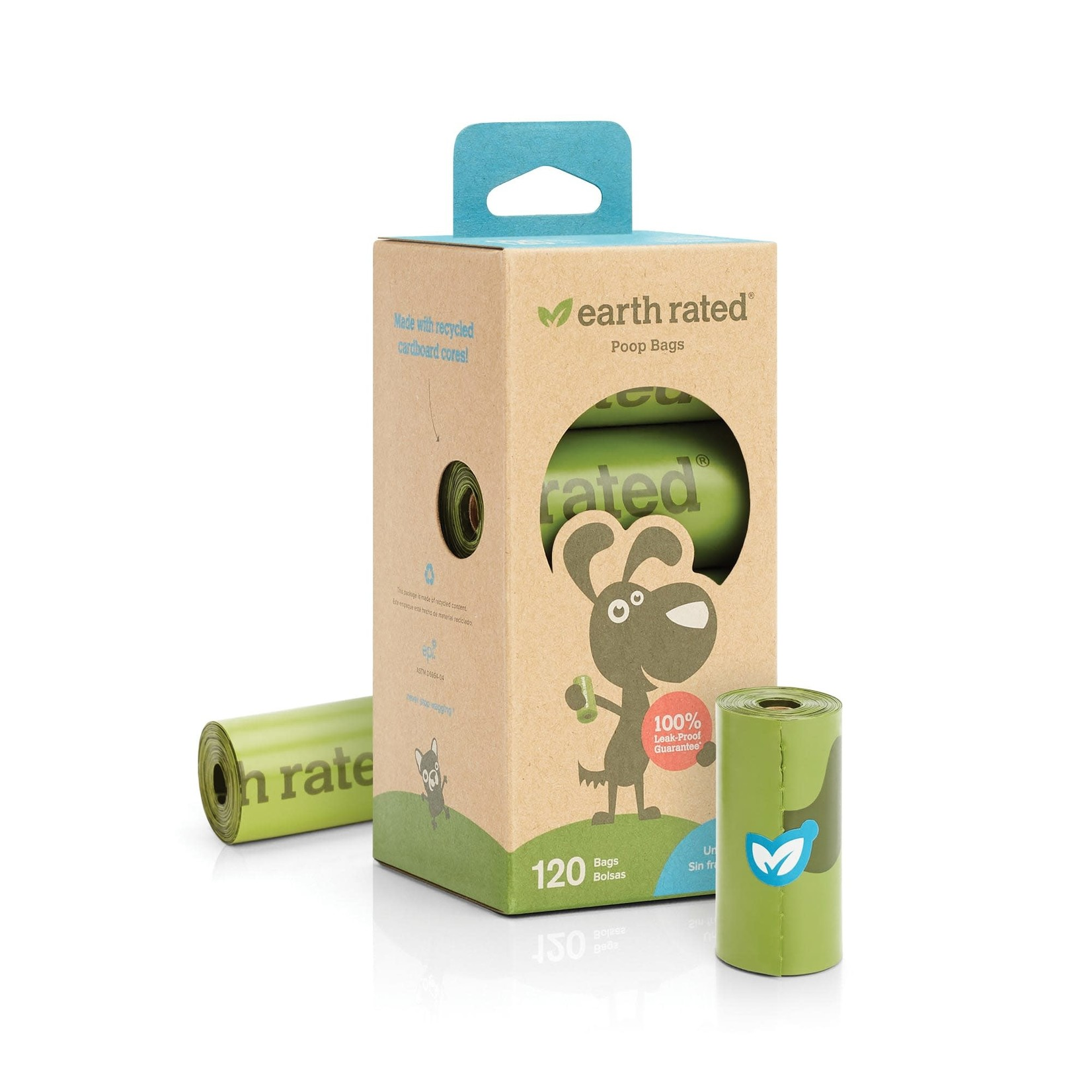 Earth Rated Bio Poop Bag Rolls Unscented 8 Pack