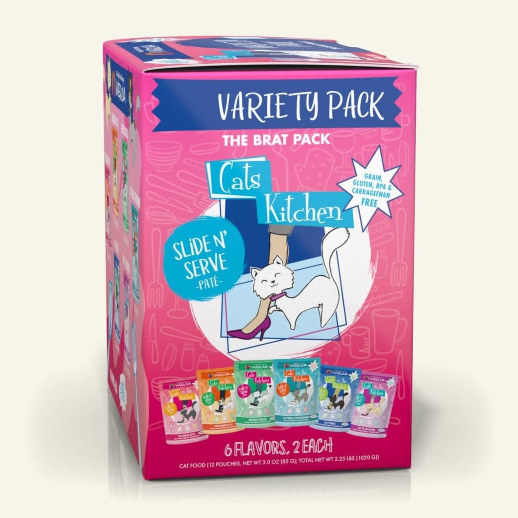 Weruva Cats In The Kitchen Brat Pack Slide & Serve Variety Pack 12 - 3 OZ Pouches