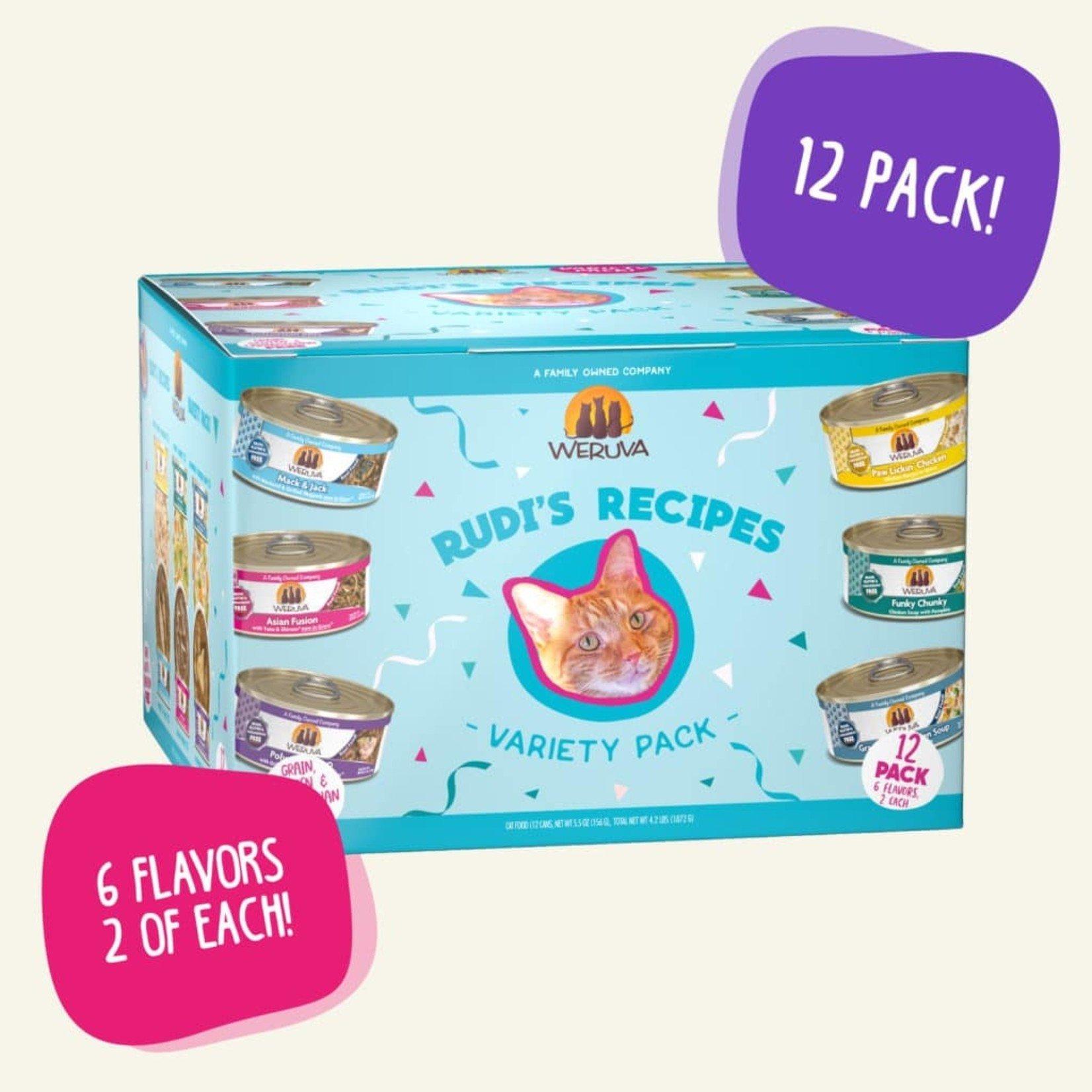 Weruva Weruva Cat Rudi's Recipe Variety Pack 12  - 3 OZ Cans