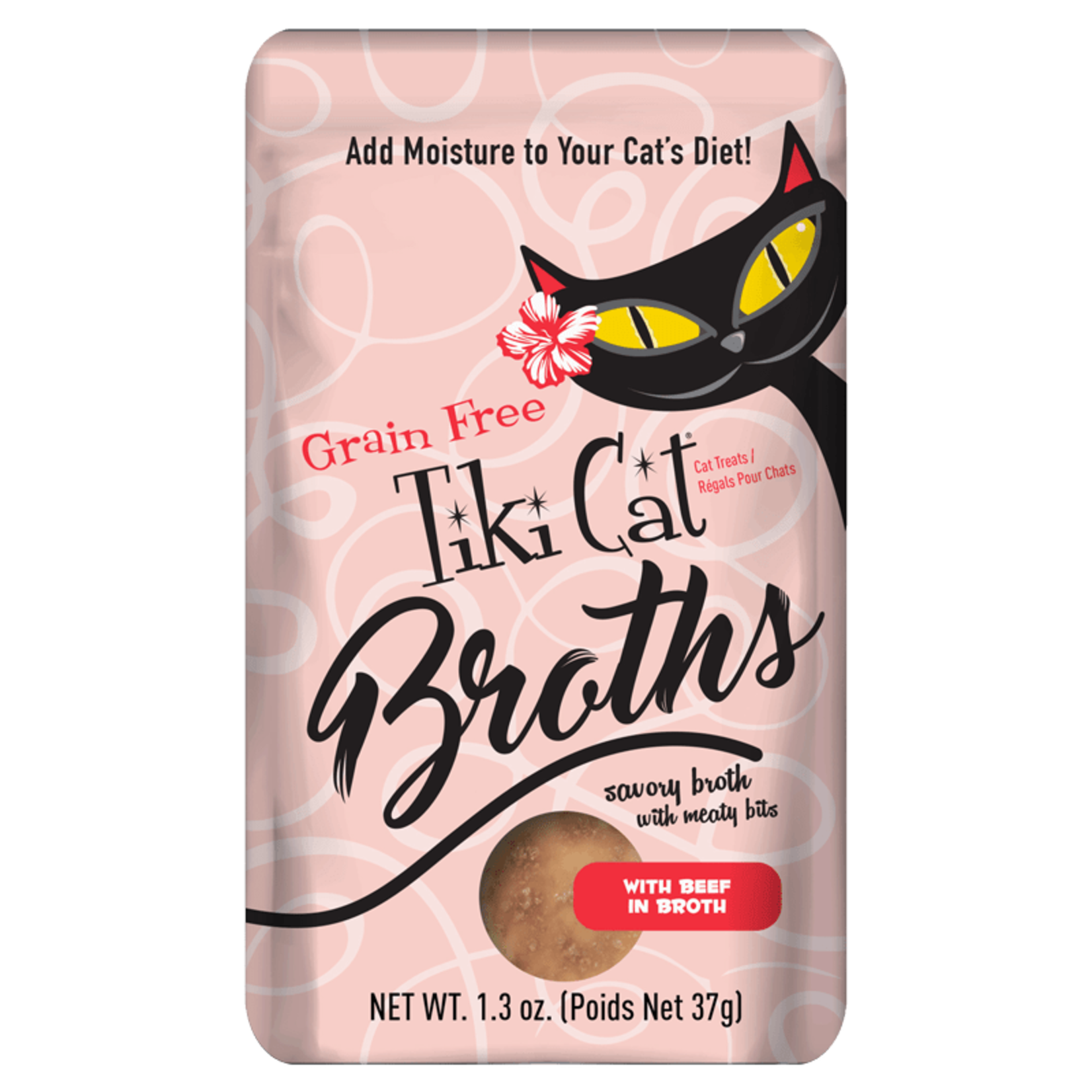 Tiki Pets Tiki Cat Broth Beef 1.3 OZ Pouch