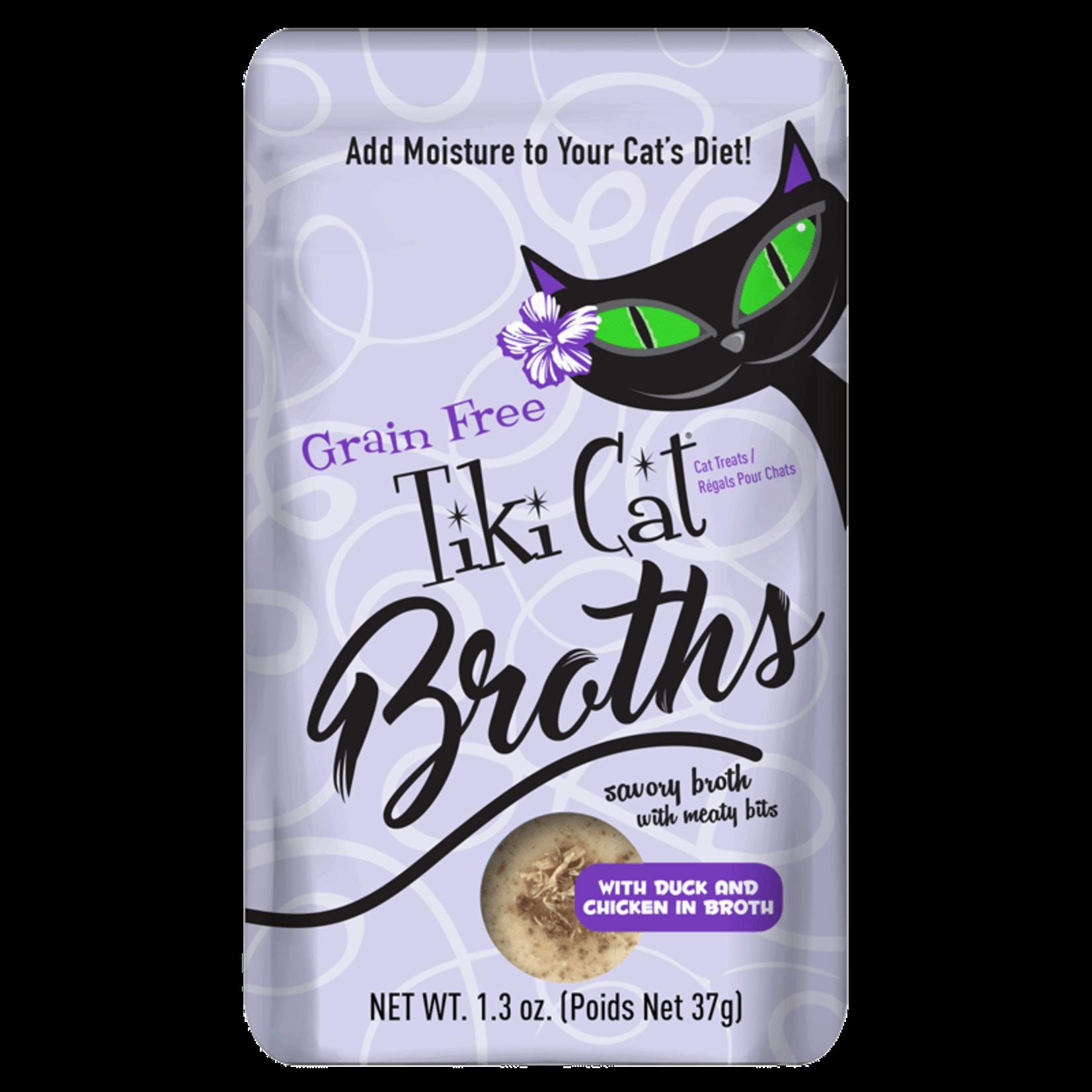 Tiki Pets Tiki Cat Broth Duck & Chicken 1.3 OZ Pouch